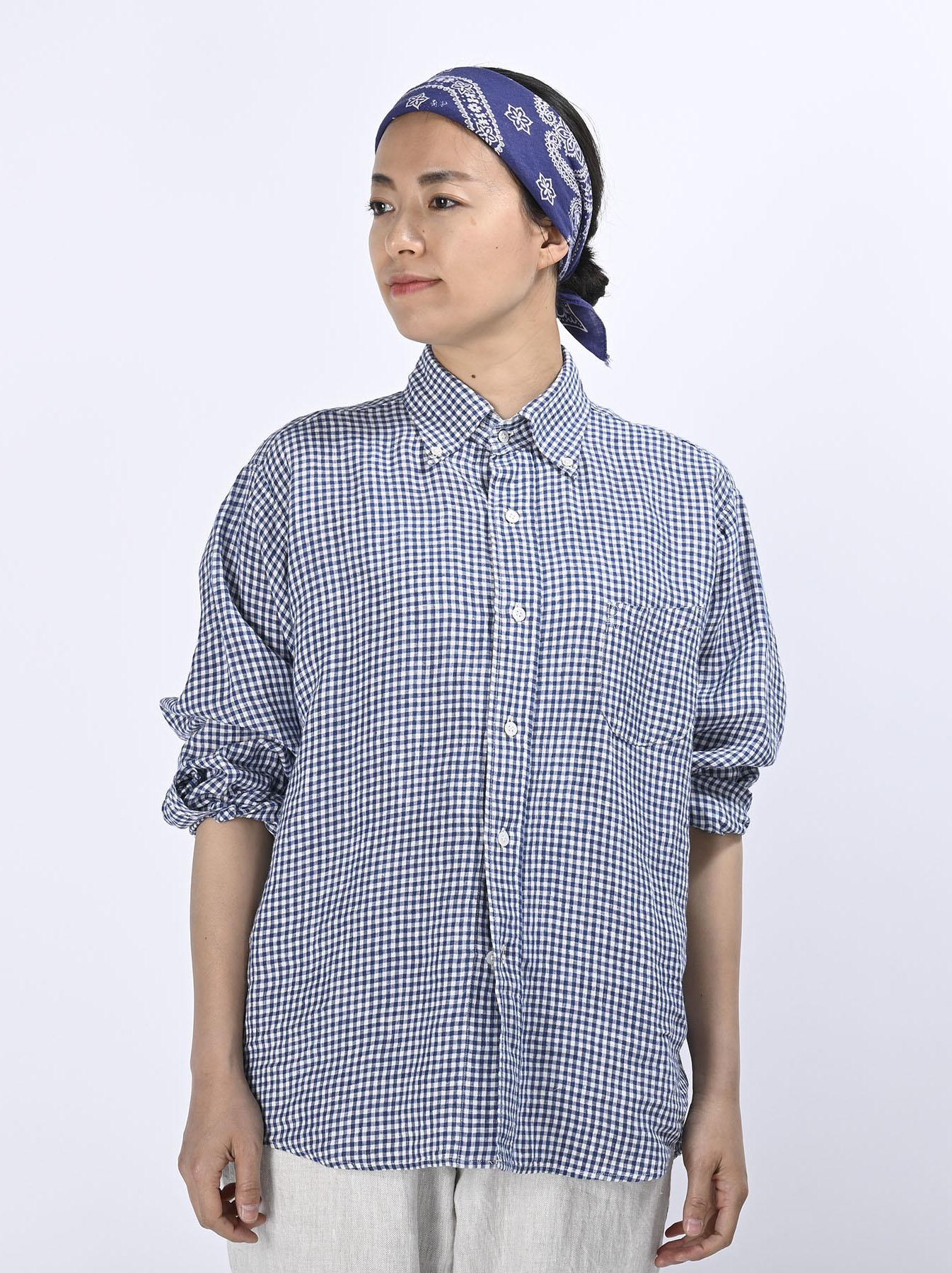 Indian Linen Flat 908 Ocean Shirt (0521)-3