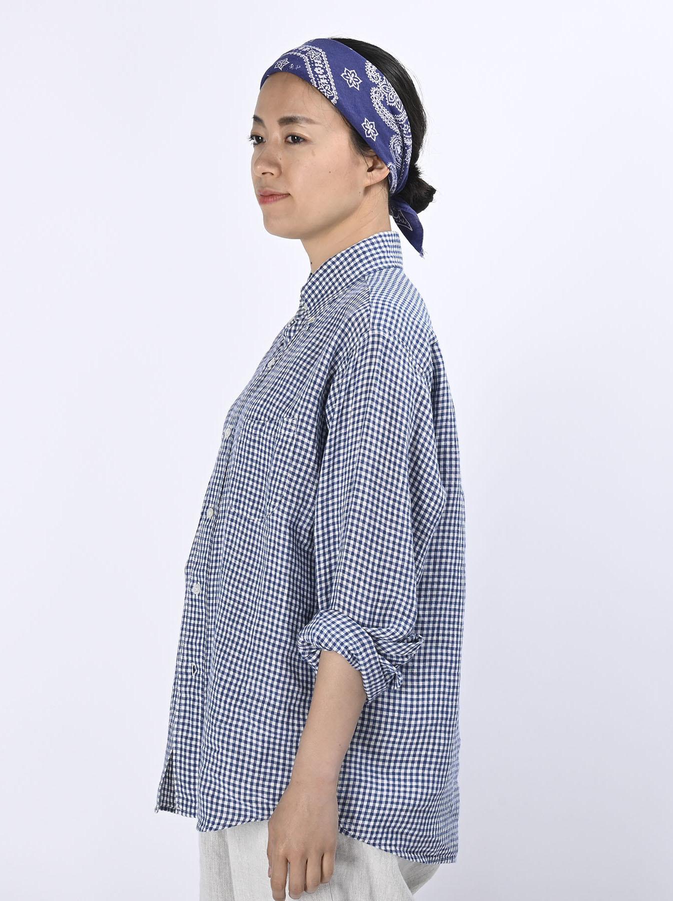 Indian Linen Flat 908 Ocean Shirt (0521)-4