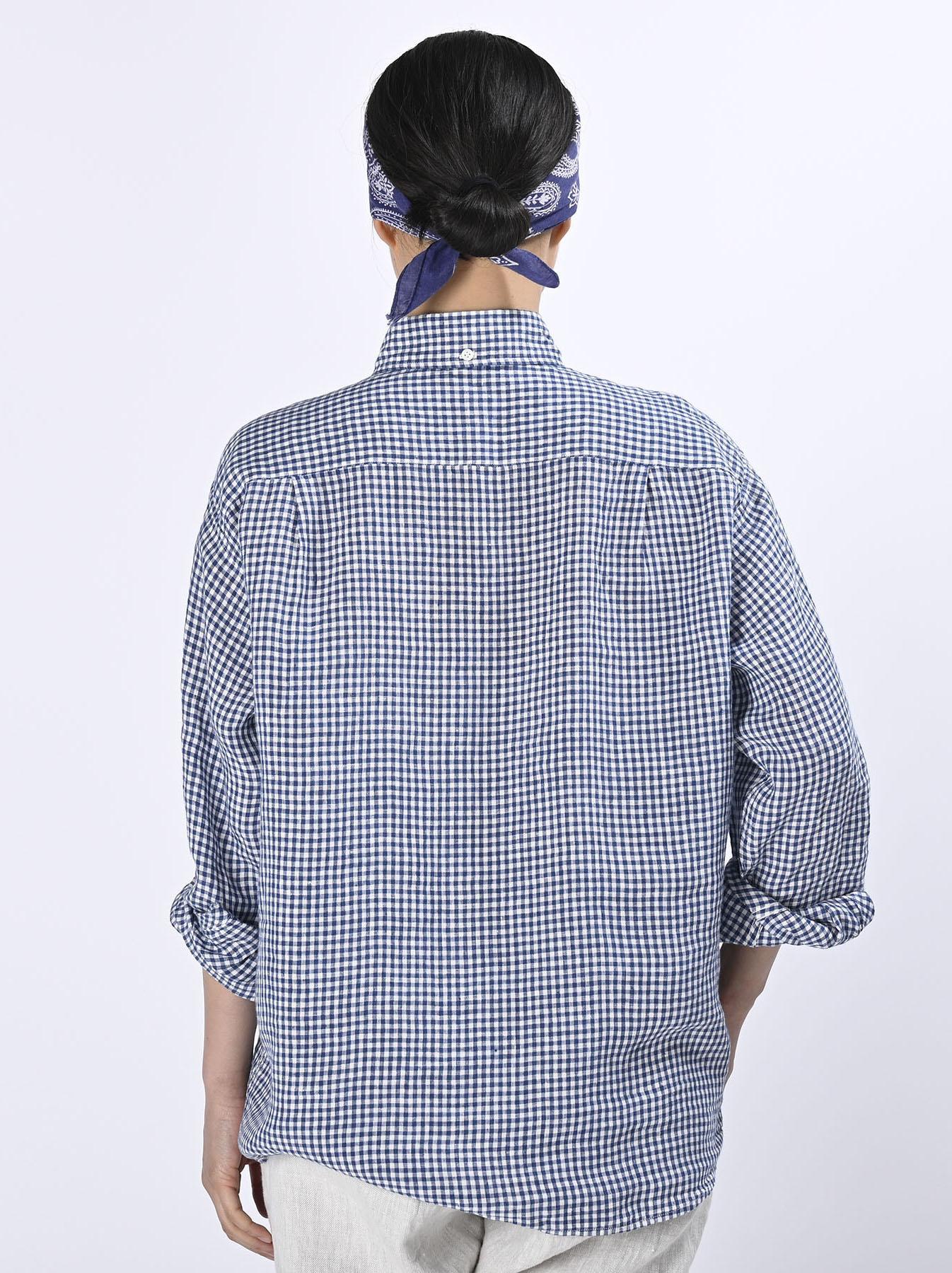 Indian Linen Flat 908 Ocean Shirt (0521)-5
