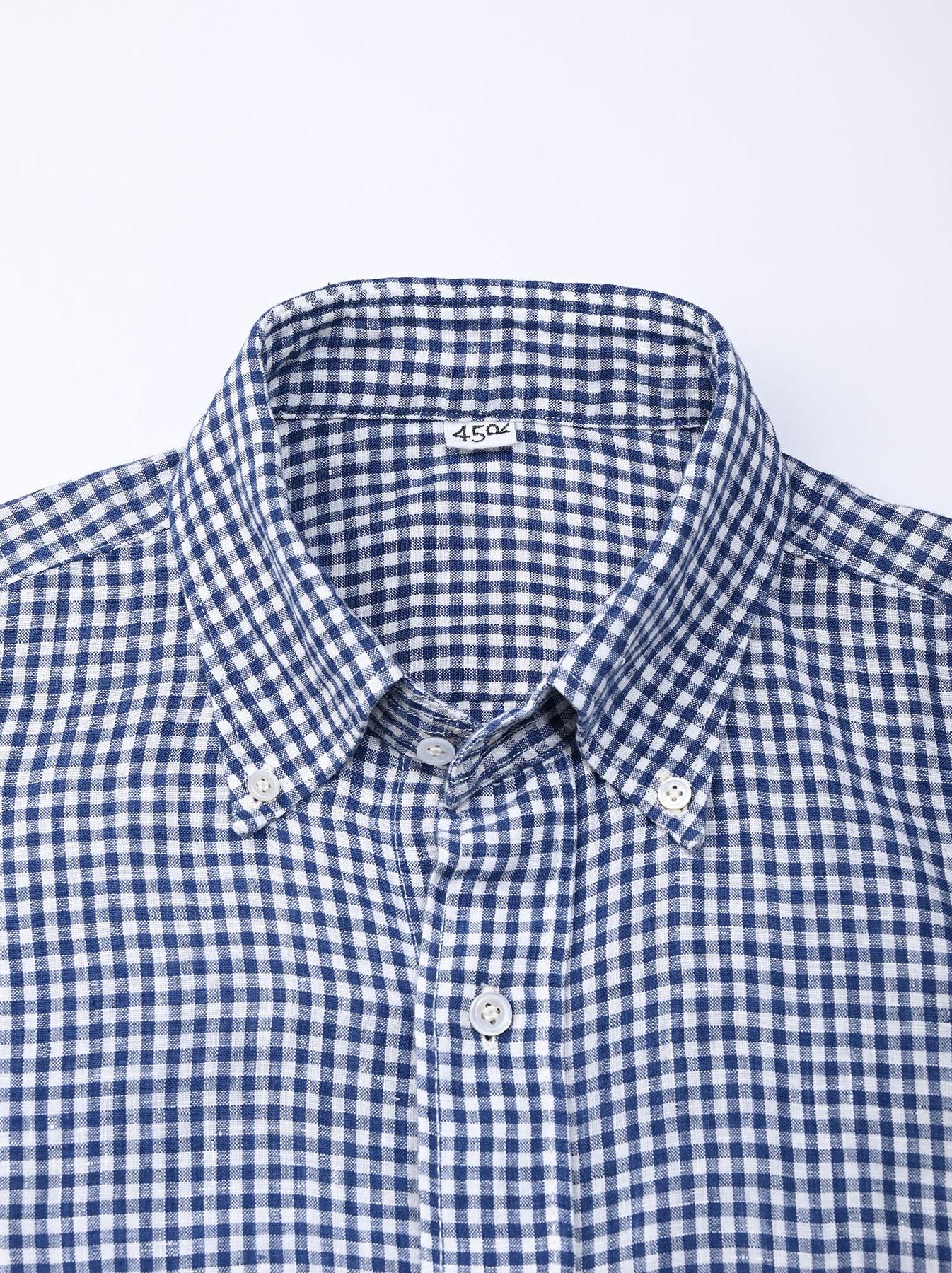 Indian Linen Flat 908 Ocean Shirt (0521)-8