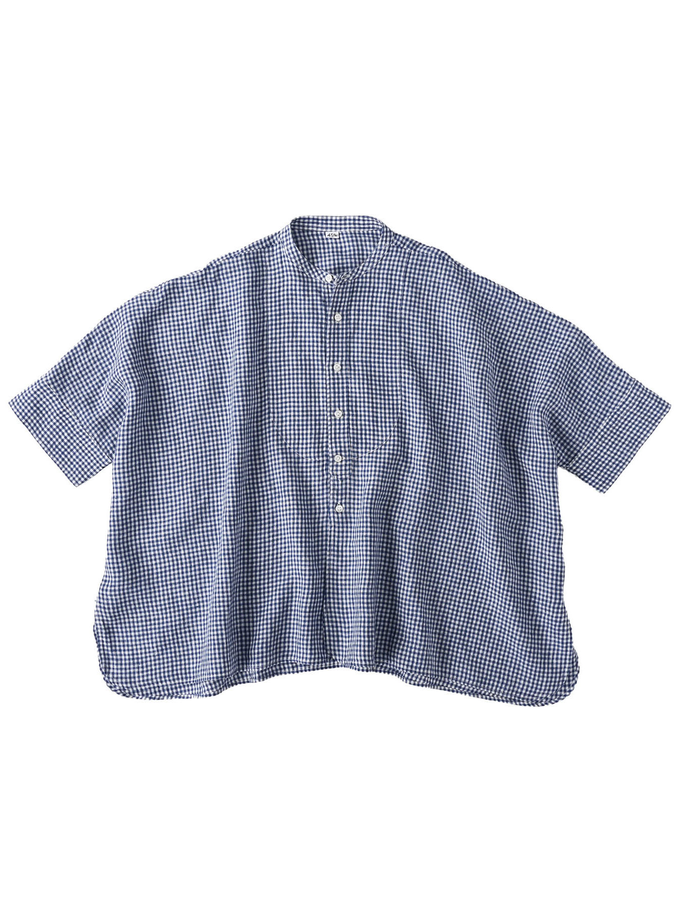 Indian Linen Flat Big Shirt (0521)-1