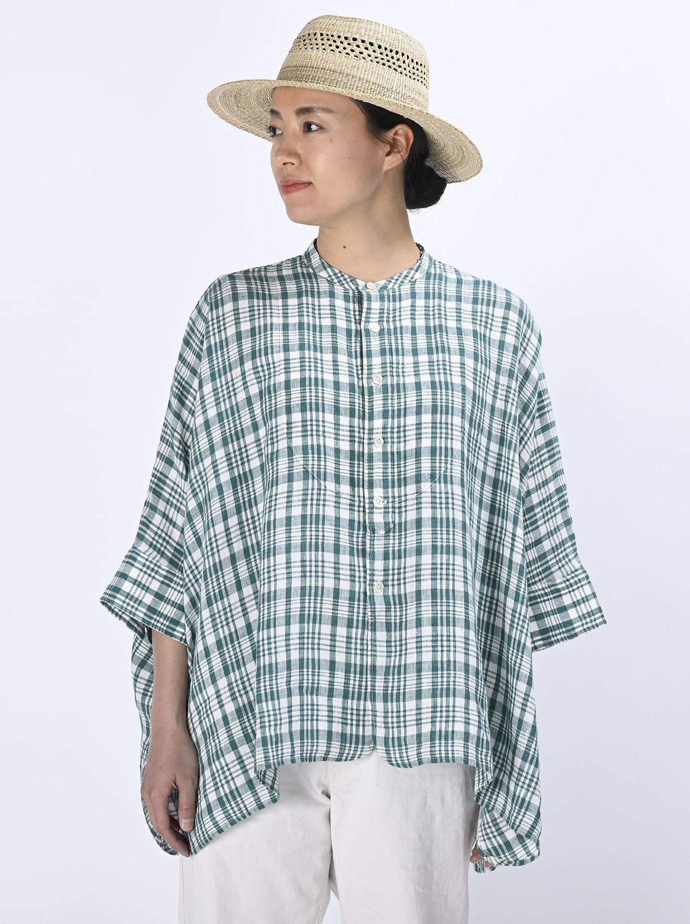 Indian Linen Flat Big Shirt (0521)-4
