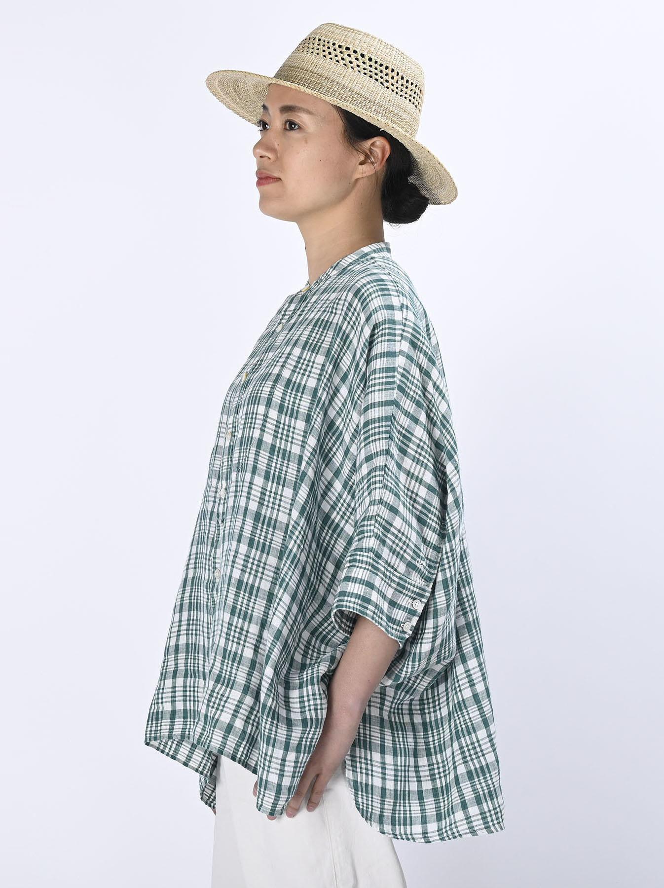 Indian Linen Flat Big Shirt (0521)-5