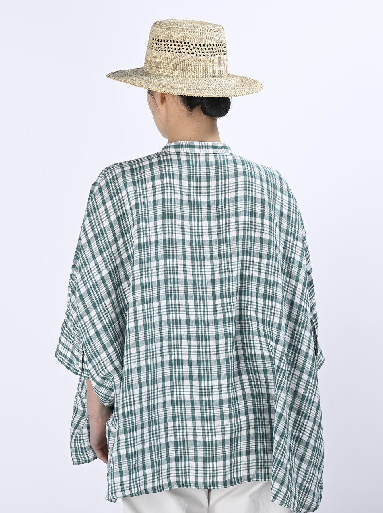 Indian Linen Flat Big Shirt (0521)-6