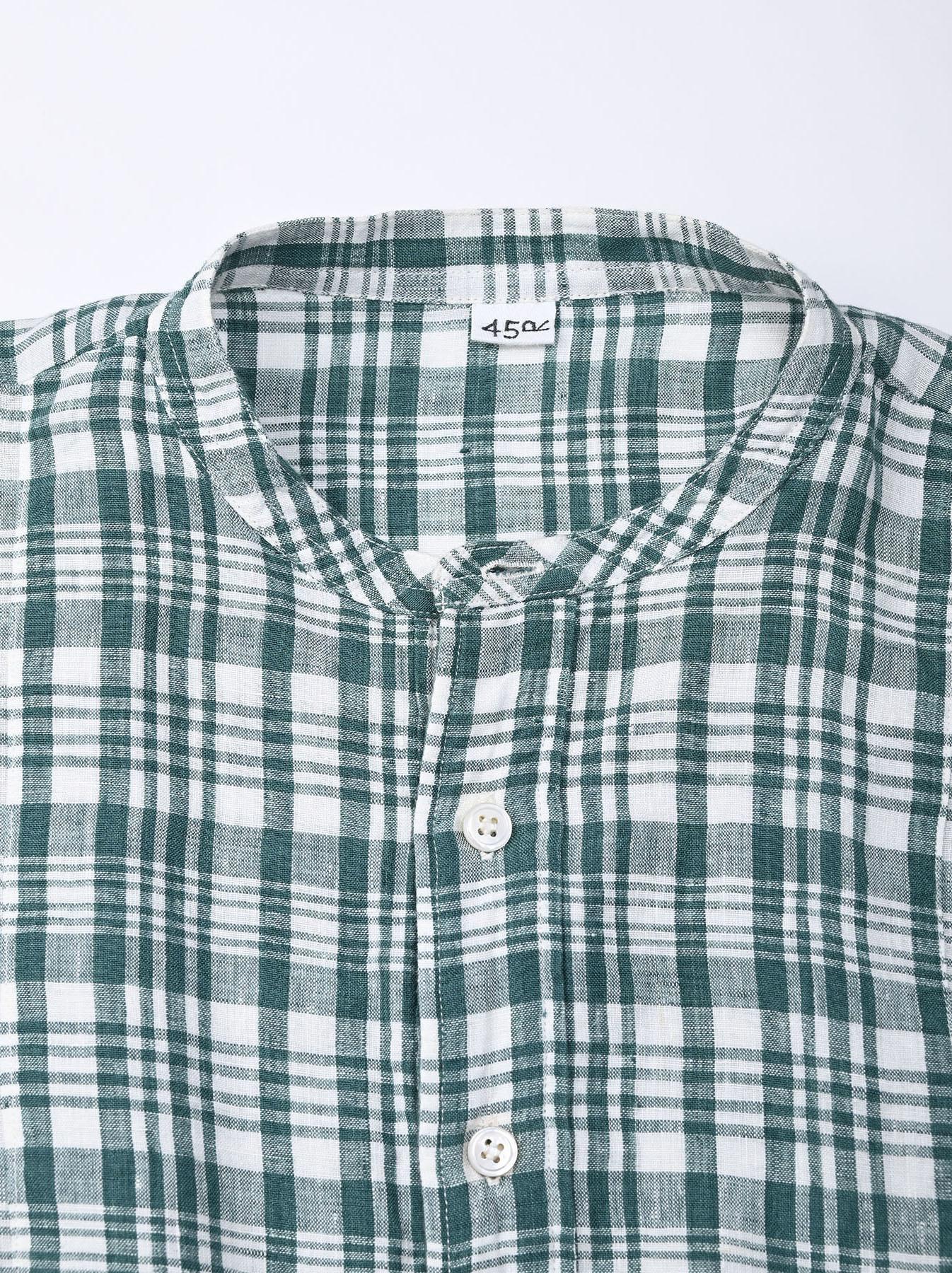 Indian Linen Flat Big Shirt (0521)-7