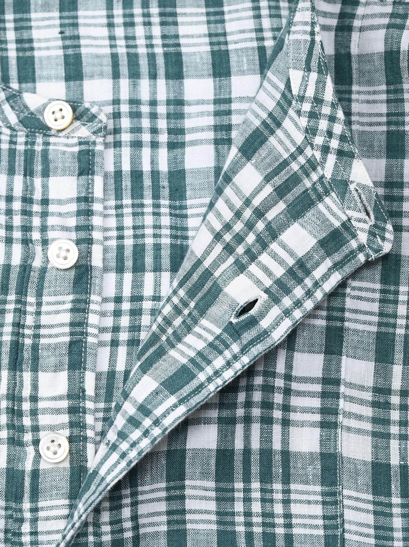 Indian Linen Flat Big Shirt (0521)-8