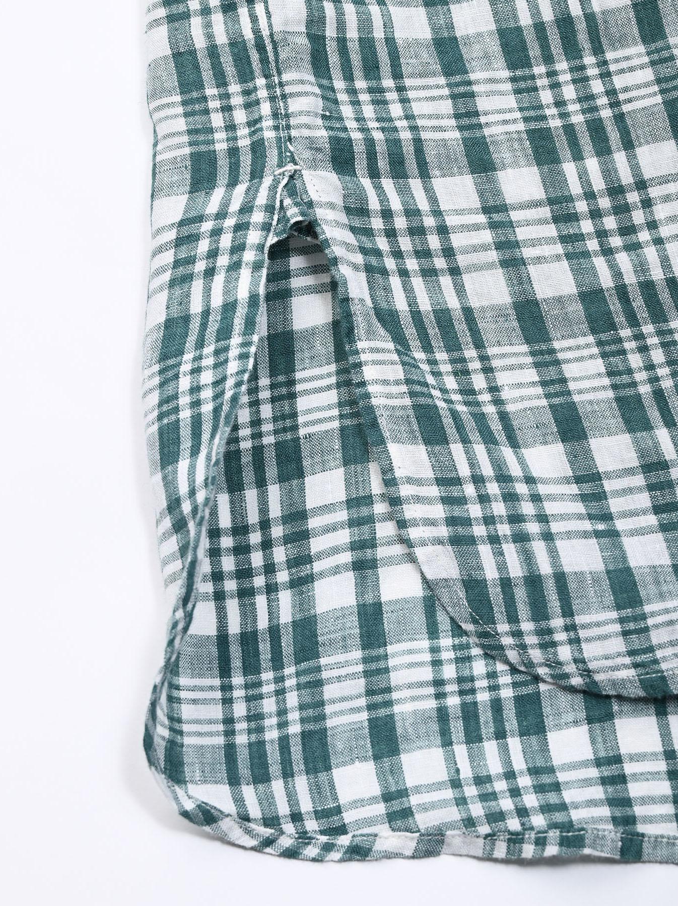 Indian Linen Flat Big Shirt (0521)-9
