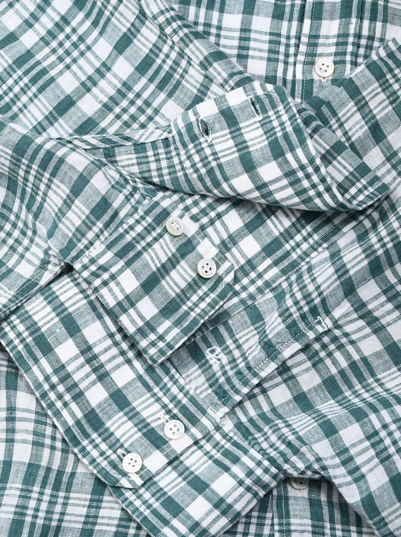 Indian Linen Flat Big Shirt (0521)-10