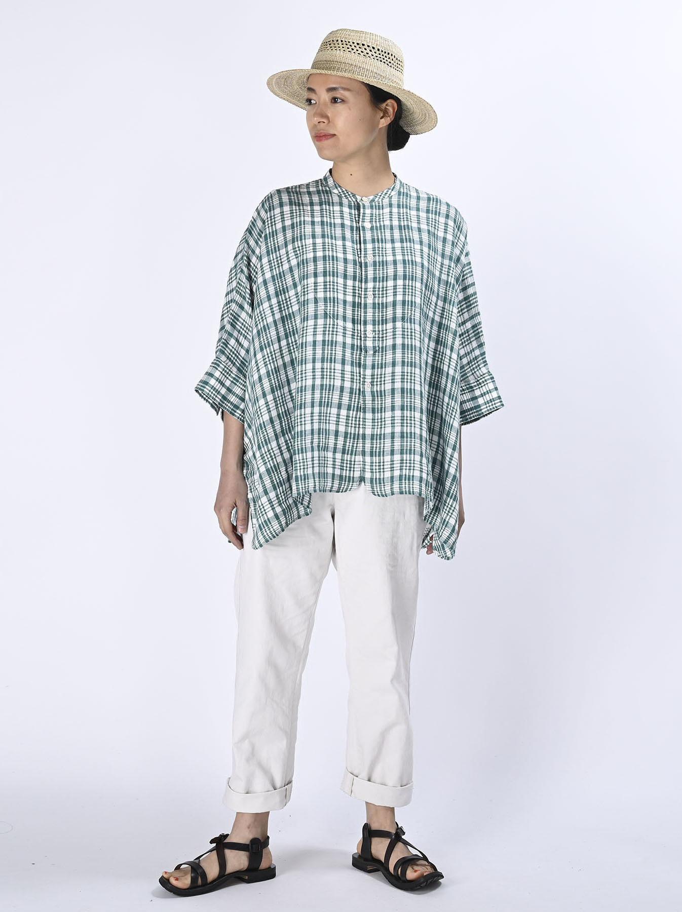 Indian Linen Flat Big Shirt (0521)-3