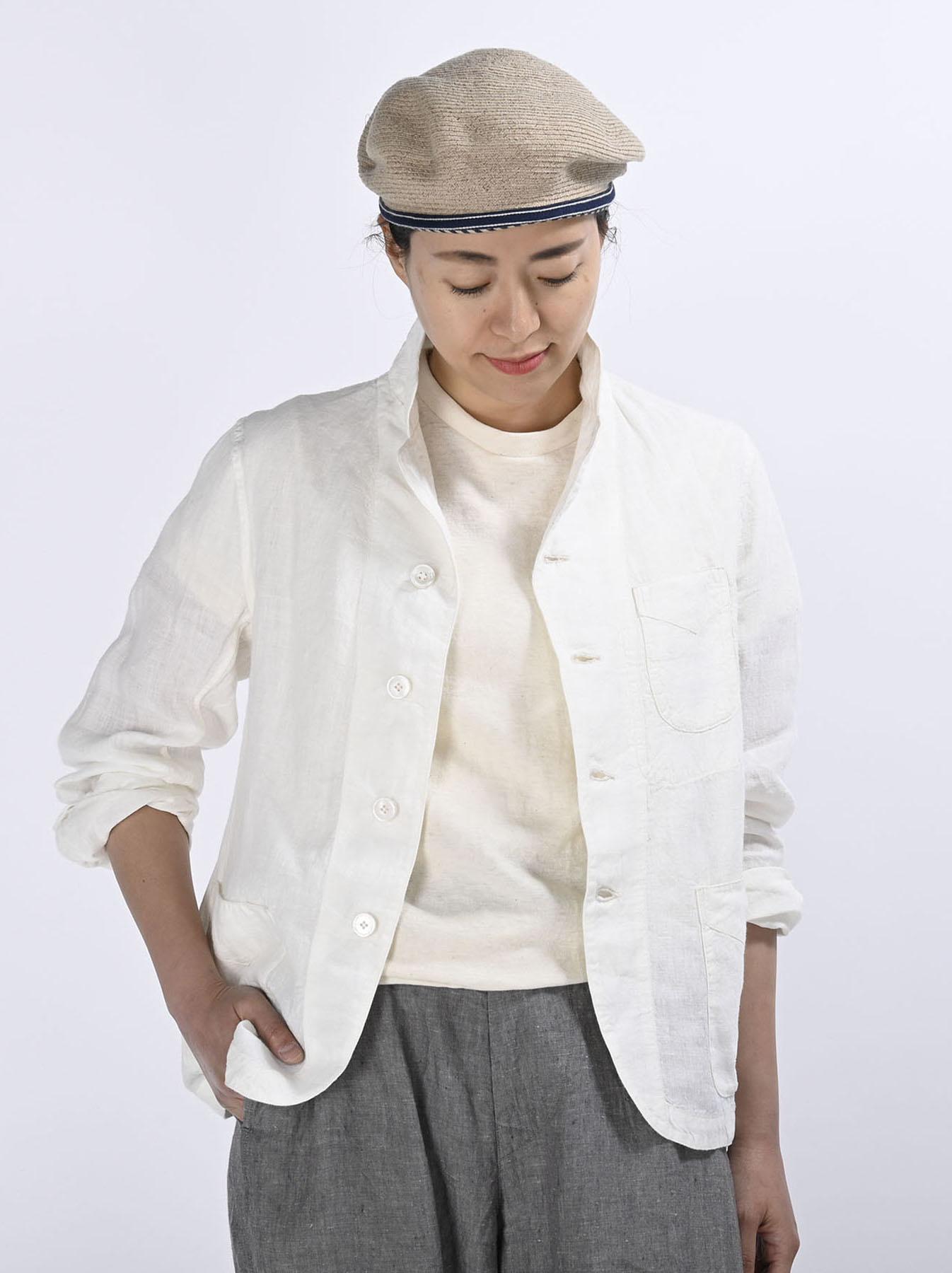 Indian Linen Flat Shirt Jacket (0521)-3