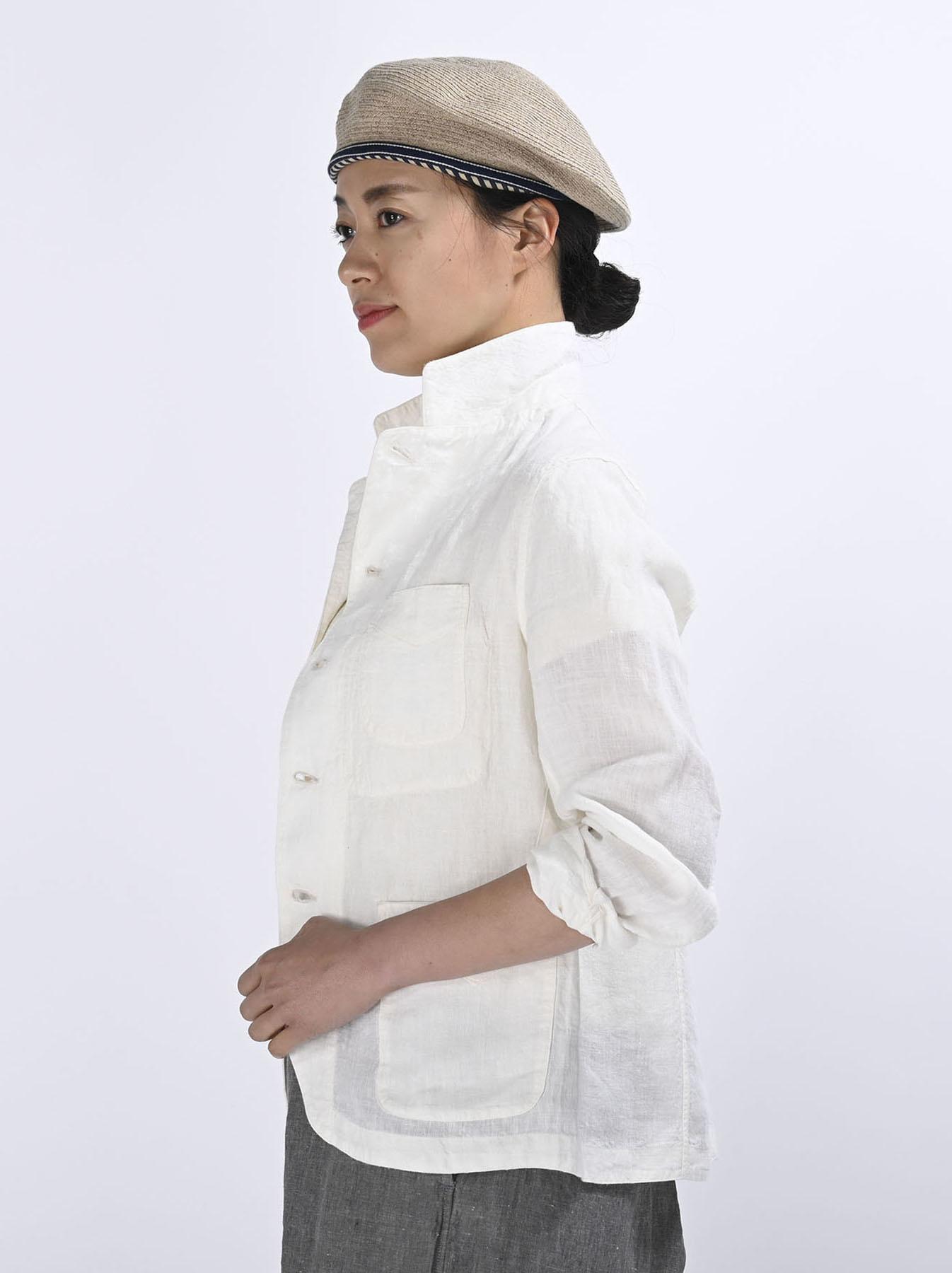 Indian Linen Flat Shirt Jacket (0521)-4