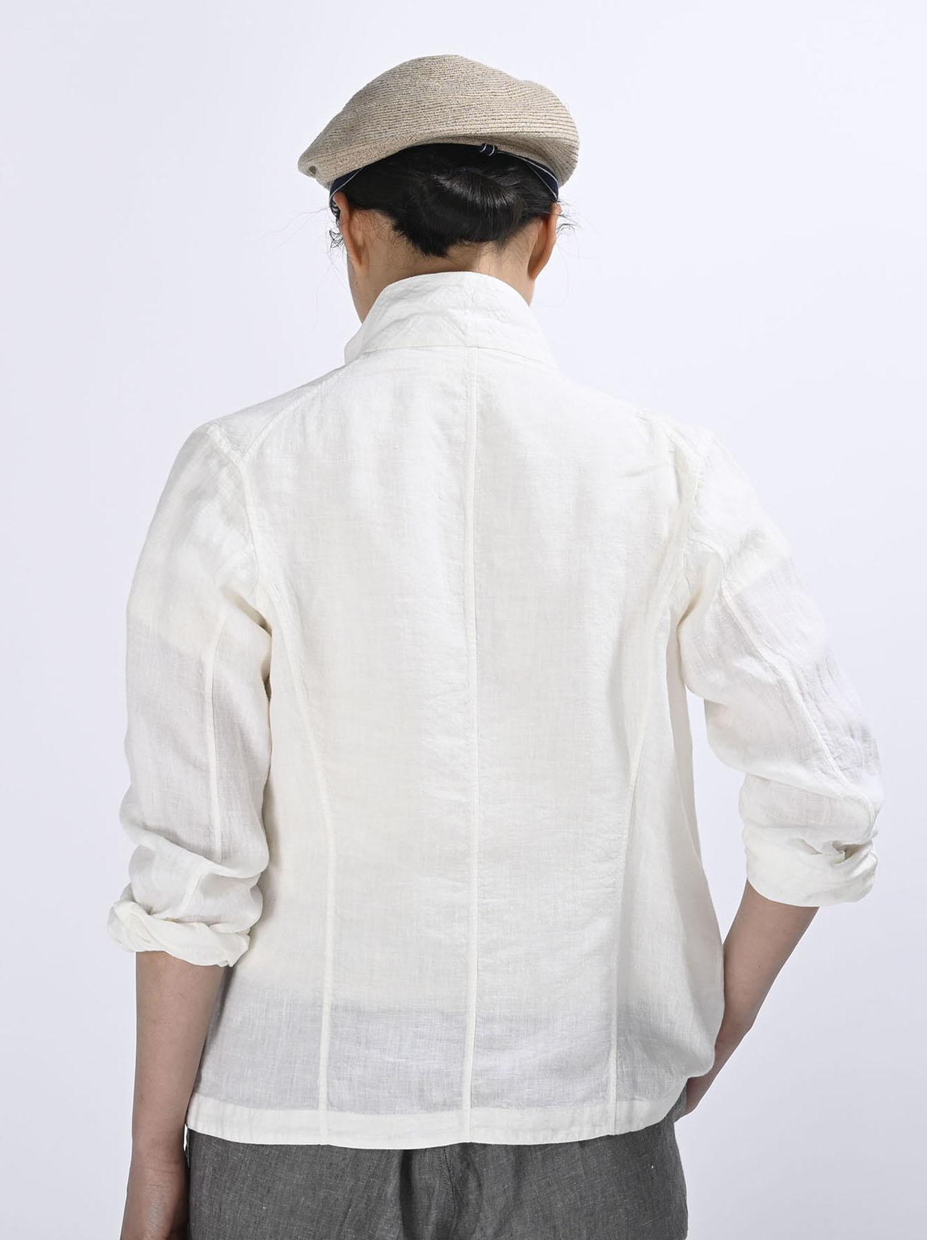 Indian Linen Flat Shirt Jacket (0521)-5