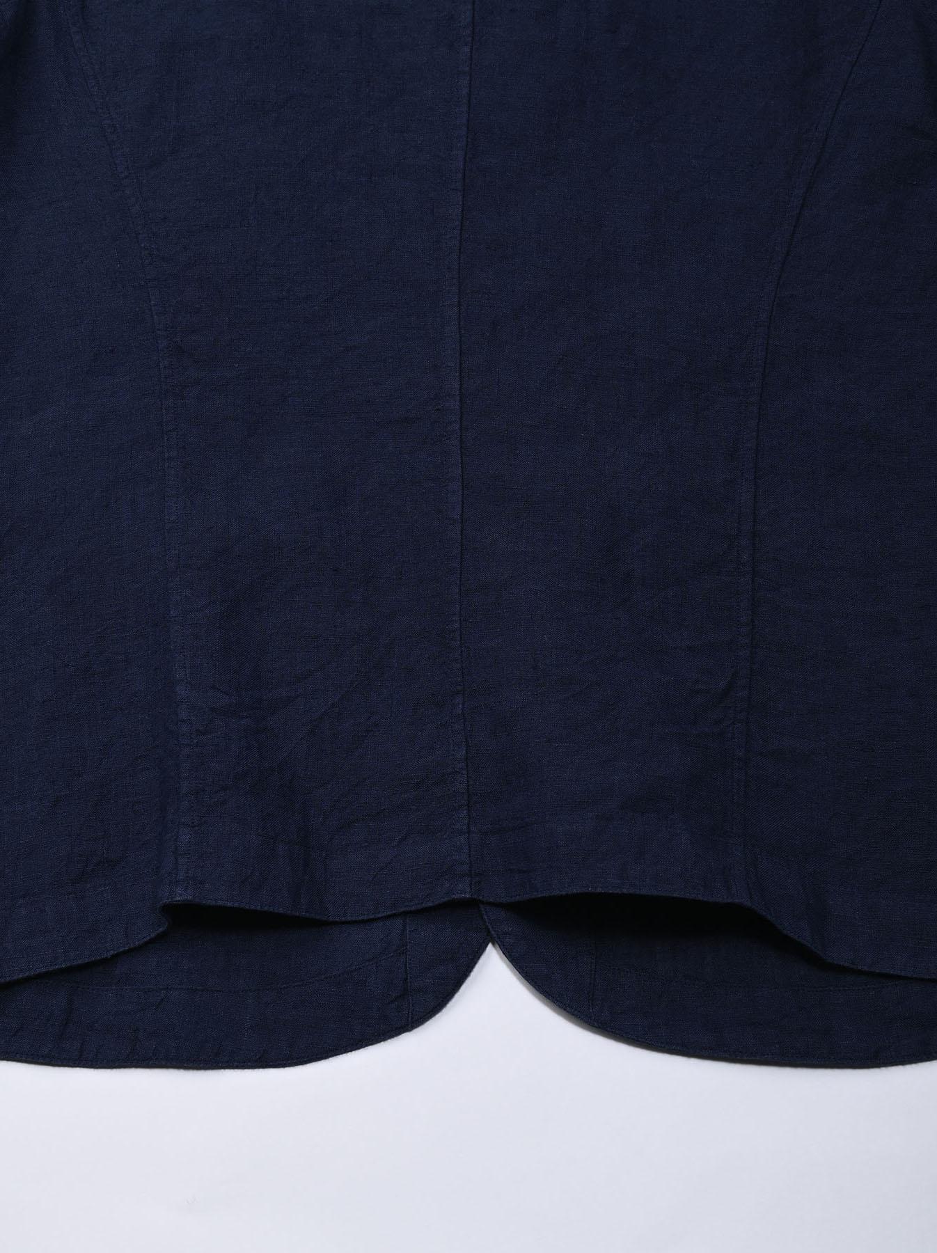 Indigo Indian Linen Flat Shirt Jacket (0521)-11