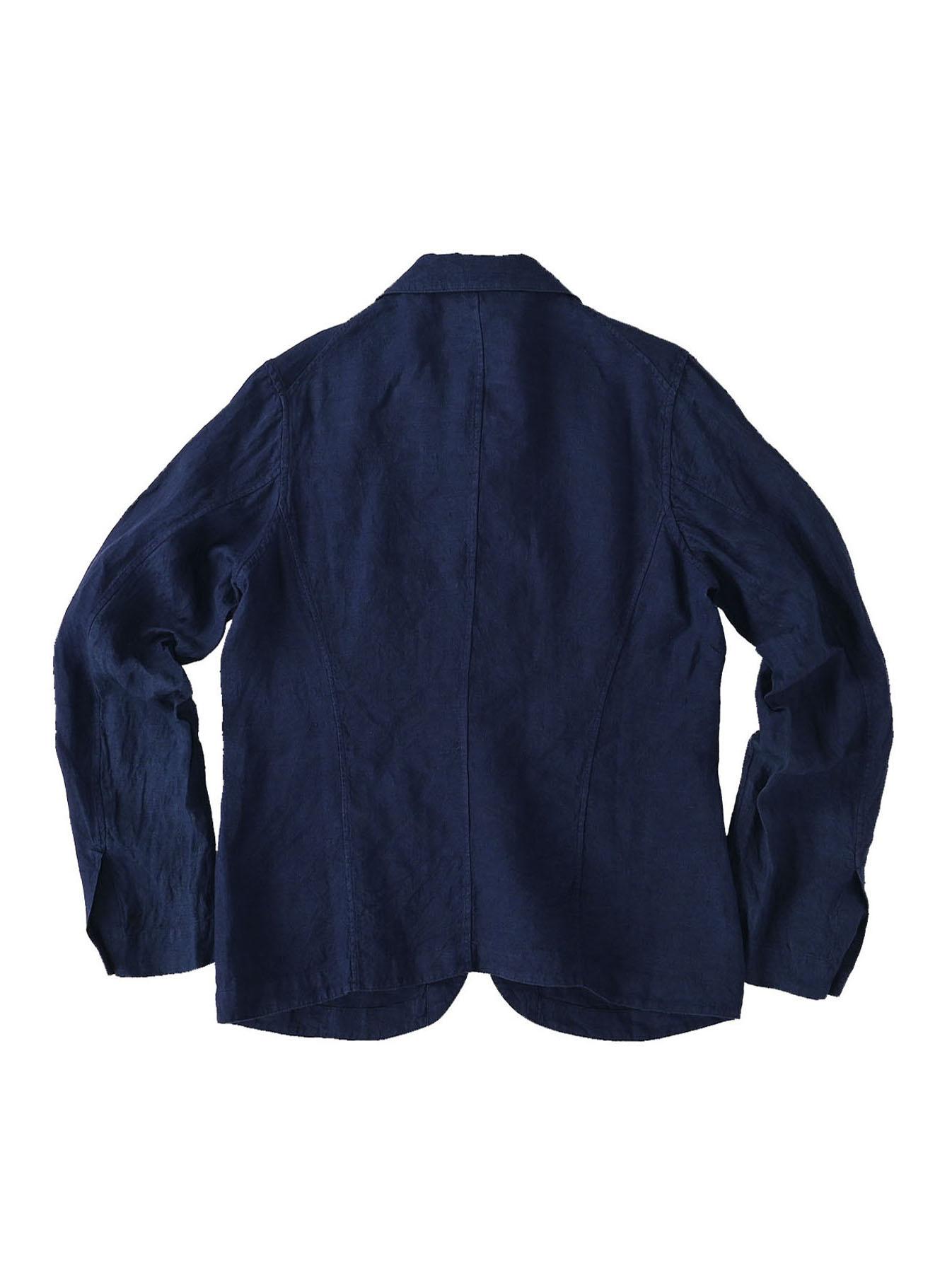 Indigo Indian Linen Flat Shirt Jacket (0521)-7