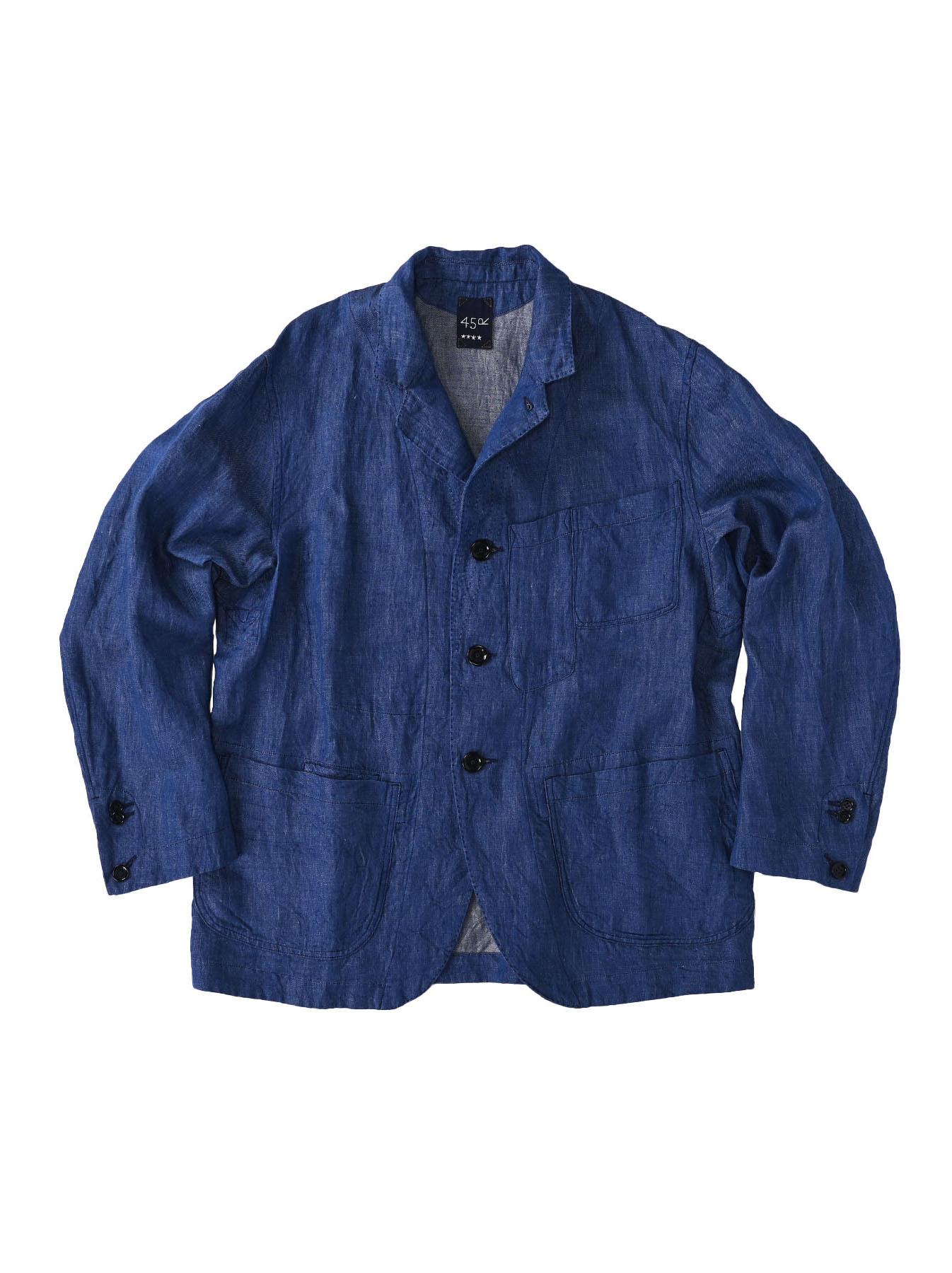 Indian Linen Twill Asama Jacket (0521)-1