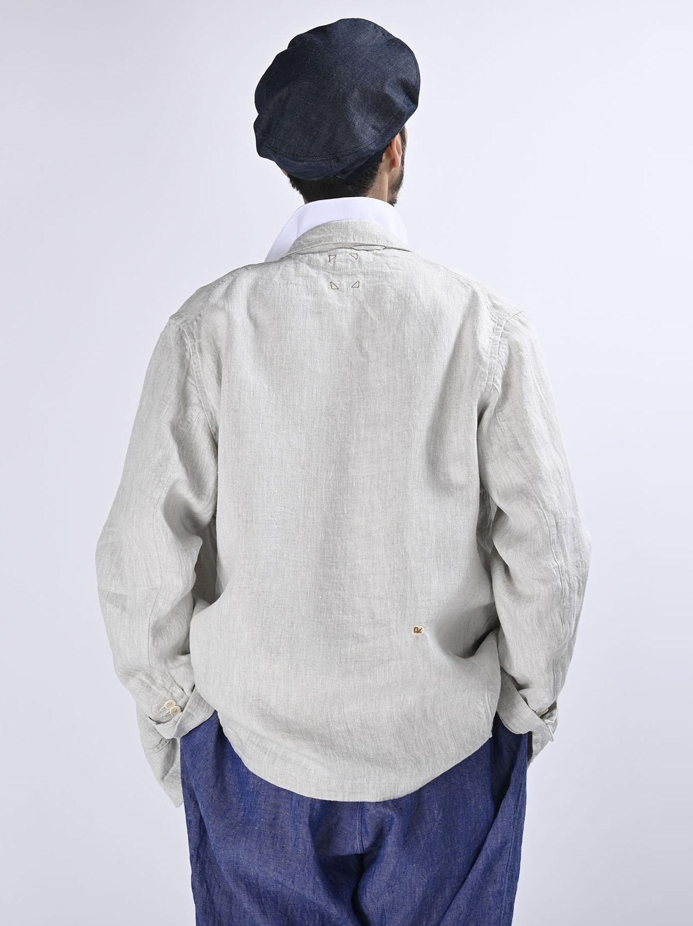 Indian Linen Twill Asama Jacket (0521)-6