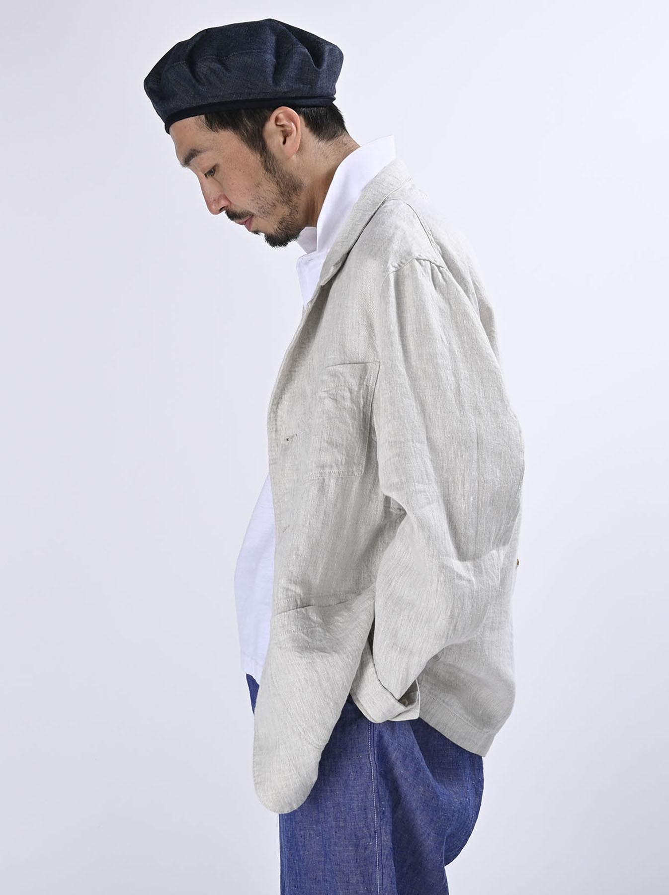 Indian Linen Twill Asama Jacket (0521)-5