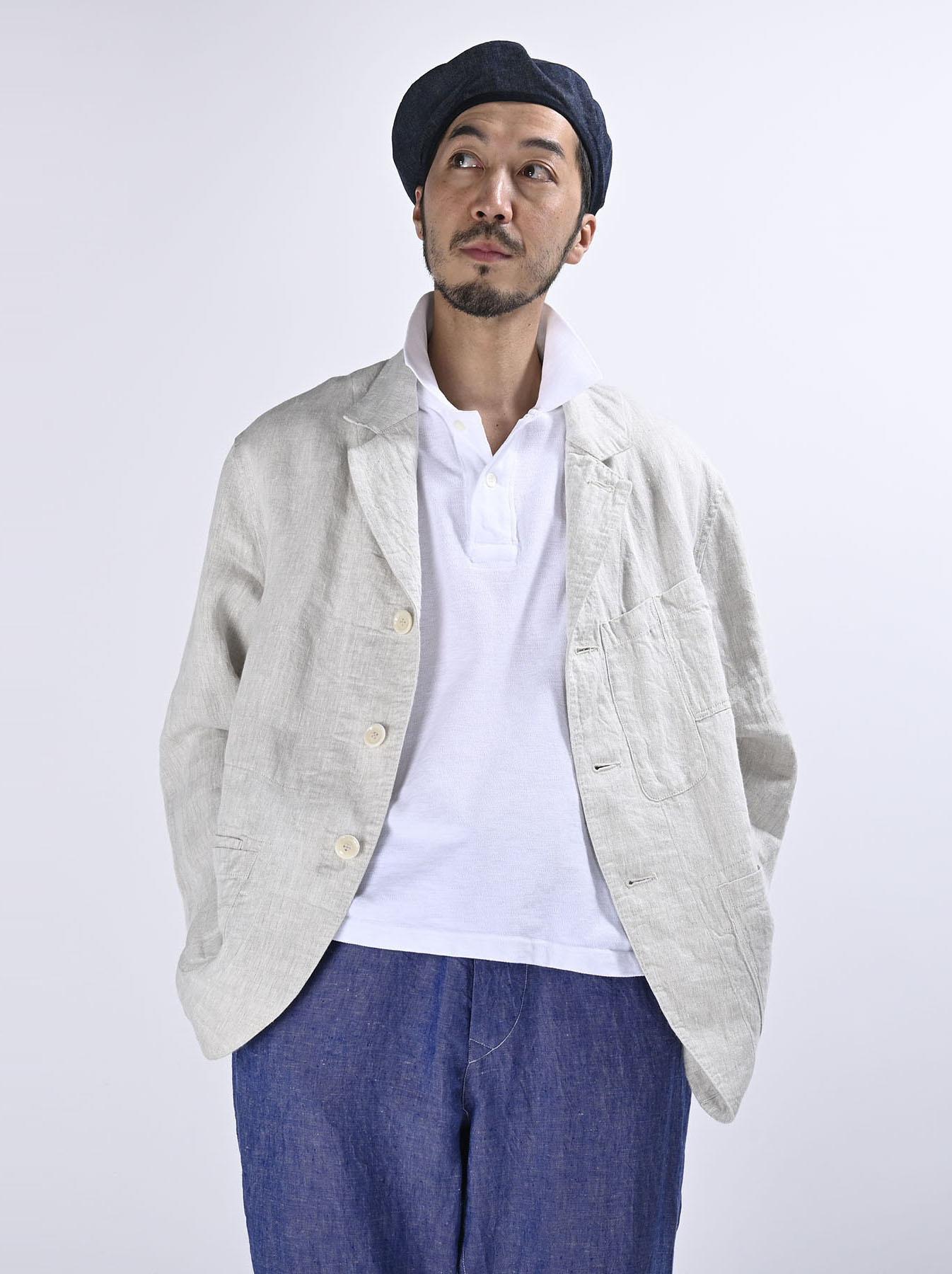 Indian Linen Twill Asama Jacket (0521)-4
