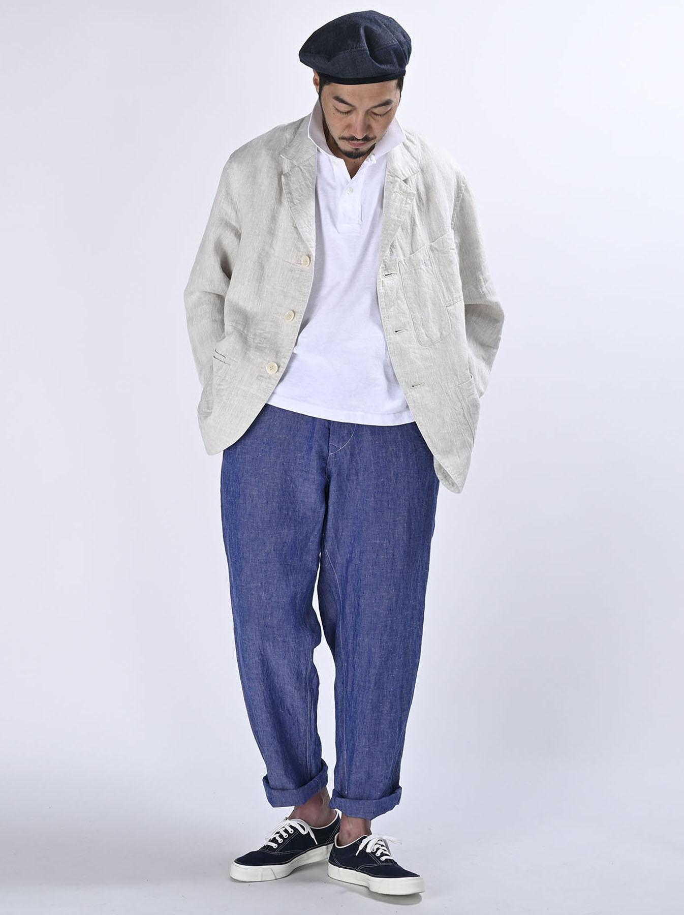 Indian Linen Twill Asama Jacket (0521)-3