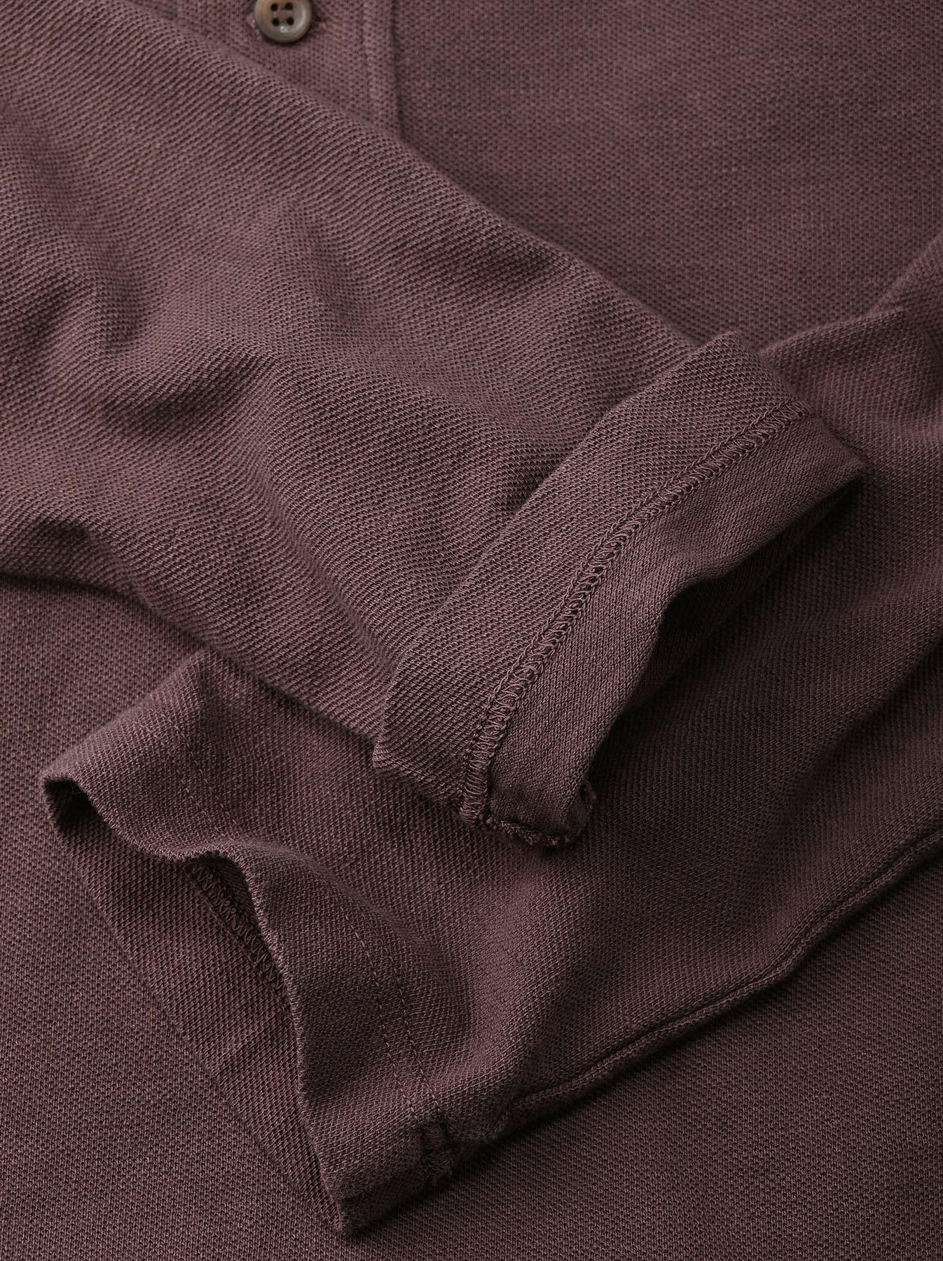 Kanoko Shiokaze Long-sleeved Square Polo Shirt (0521)-11