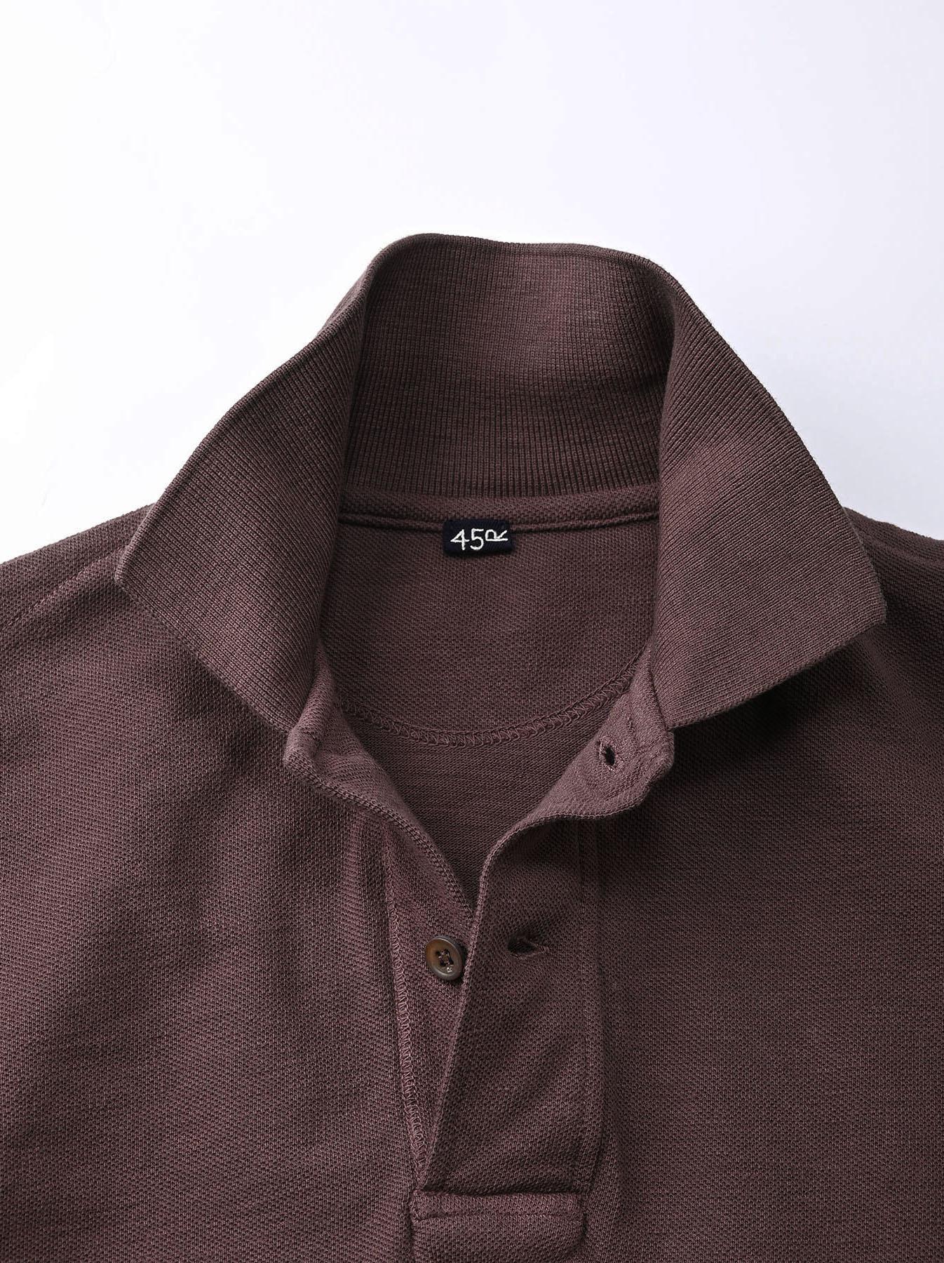 Kanoko Shiokaze Long-sleeved Square Polo Shirt (0521)-9