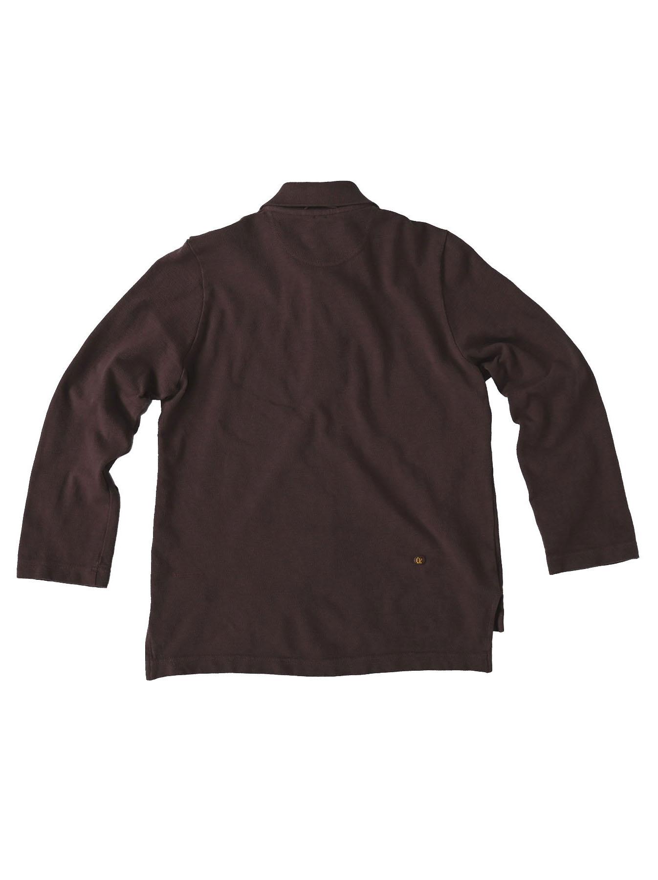 Kanoko Shiokaze Long-sleeved Square Polo Shirt (0521)-8