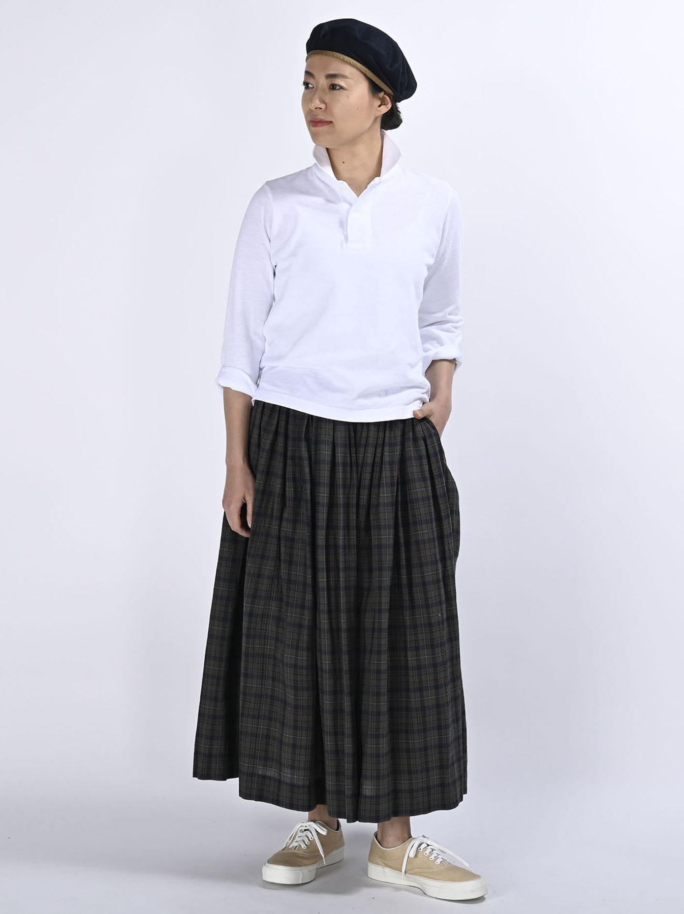 Kanoko Shiokaze Long-sleeved Square Polo Shirt (0521)-2