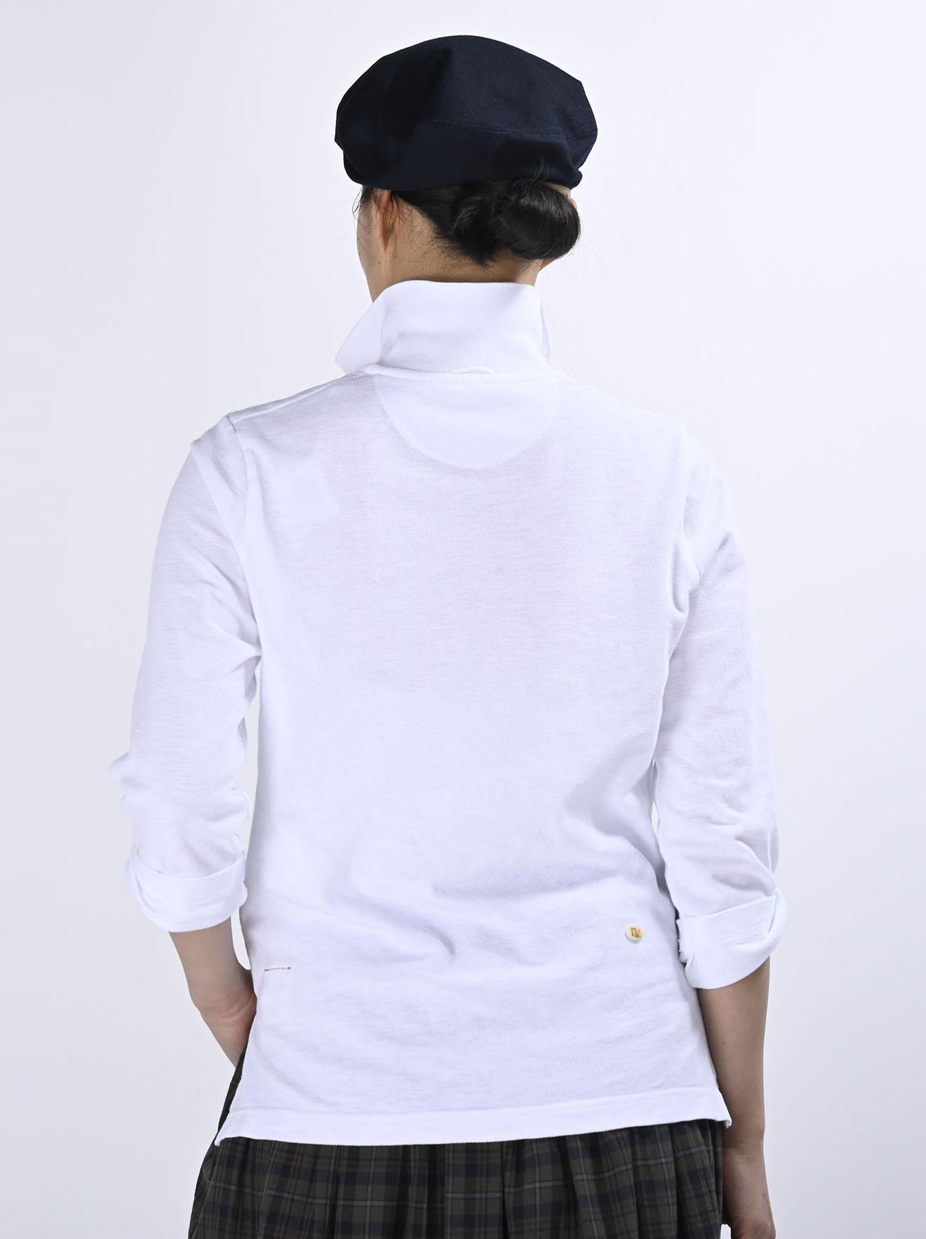 Kanoko Shiokaze Long-sleeved Square Polo Shirt (0521)-5
