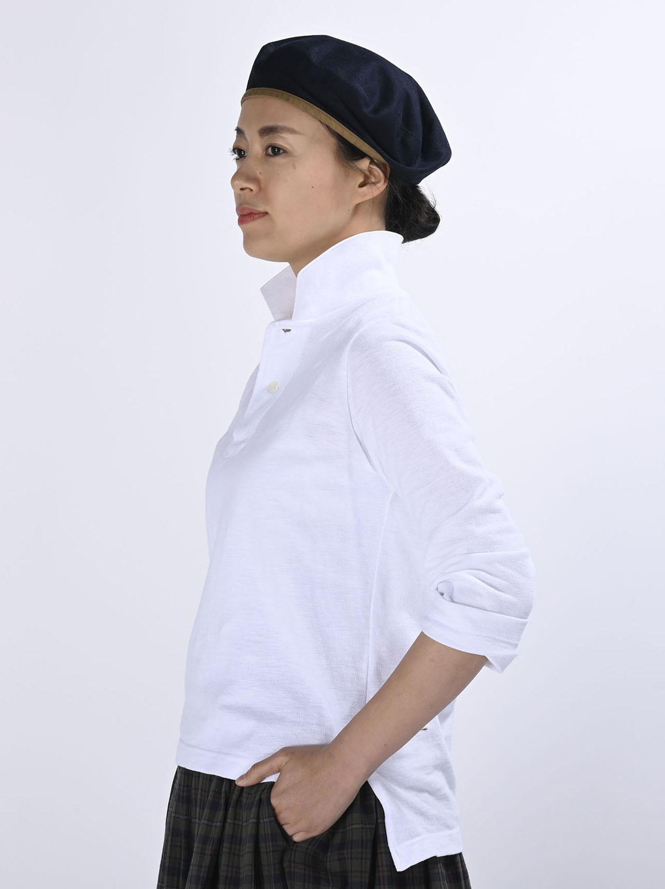 Kanoko Shiokaze Long-sleeved Square Polo Shirt (0521)-4