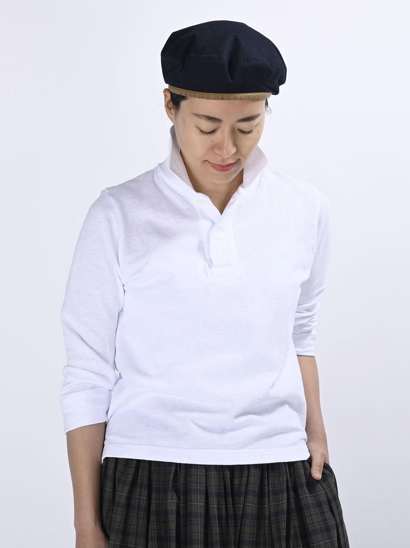 Kanoko Shiokaze Long-sleeved Square Polo Shirt (0521)-3