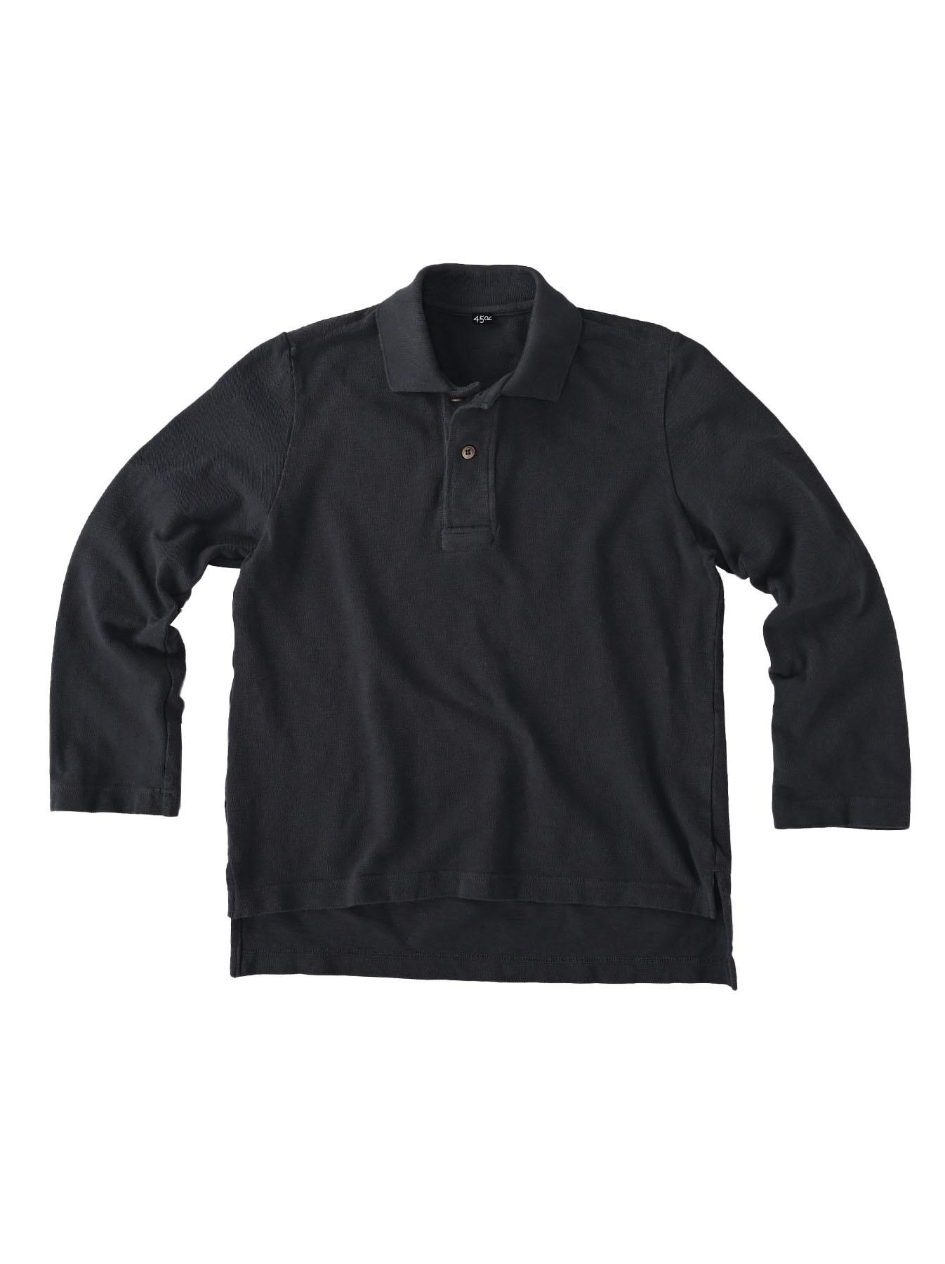 Kanoko Shiokaze Long-sleeved Square Polo Shirt (0521)-1