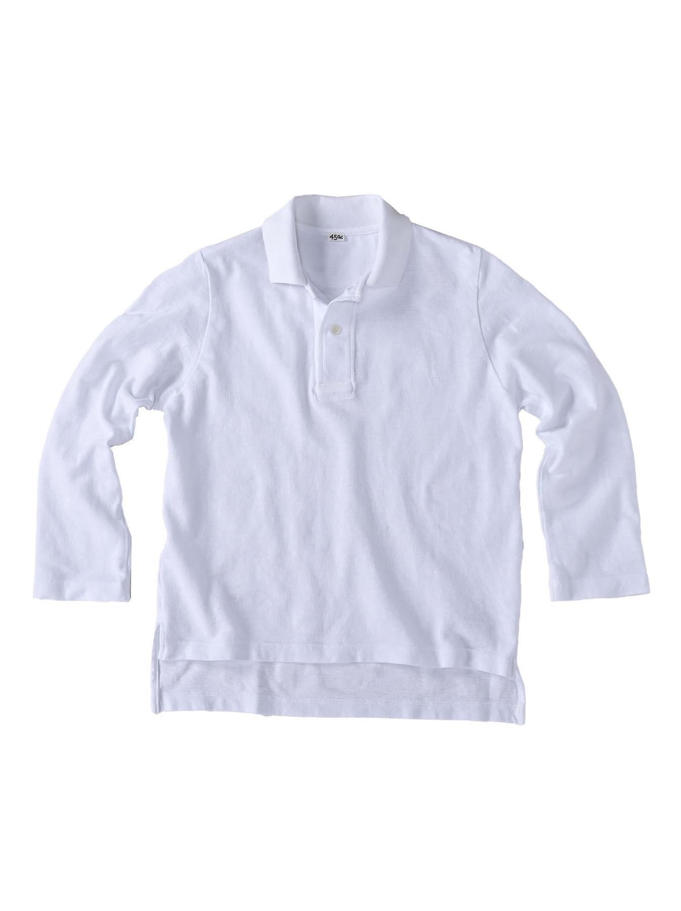 Kanoko Shiokaze Long-sleeved Square Polo Shirt (0521)-6