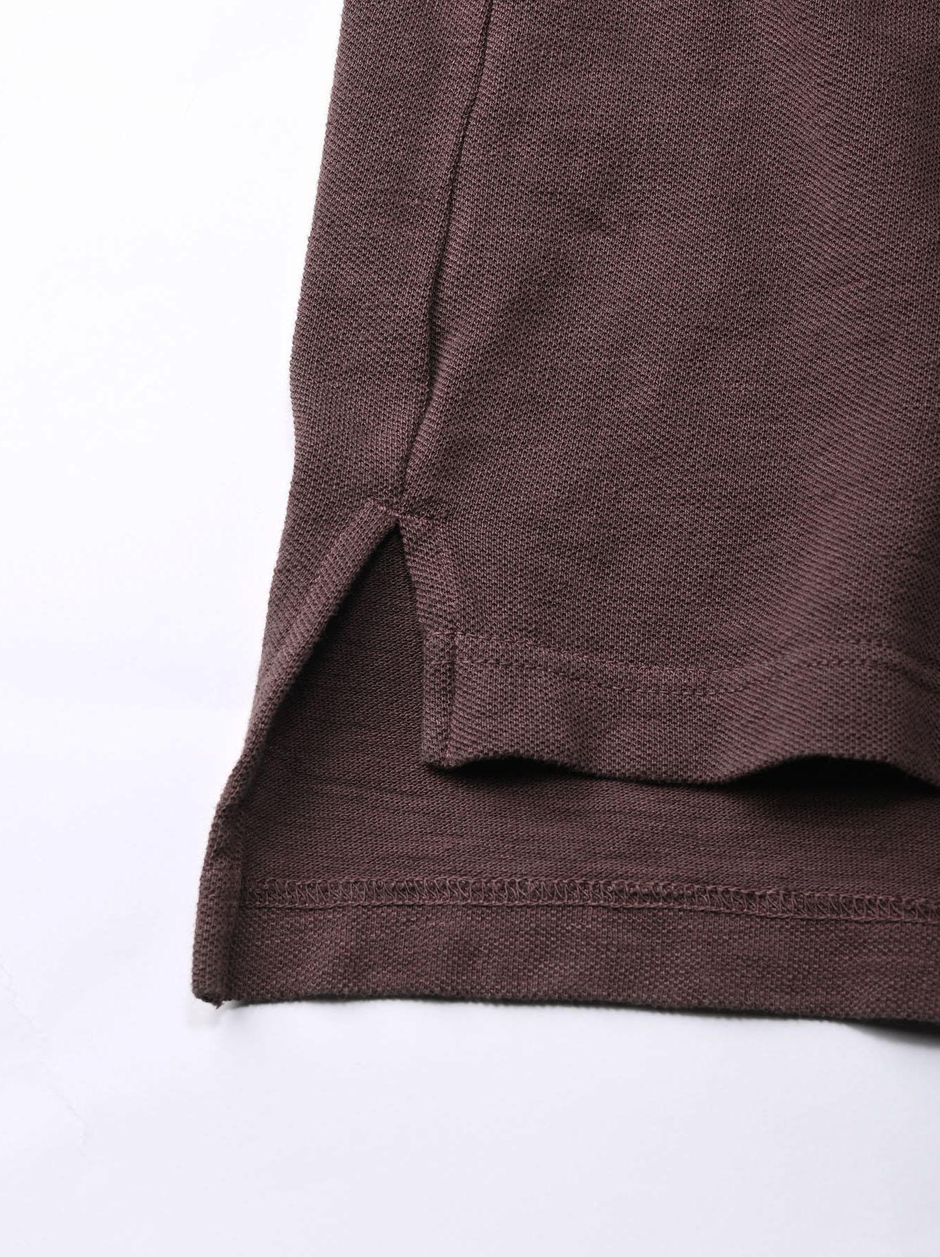 Kanoko Shiokaze Long-sleeved Square Polo Shirt (0521)-12