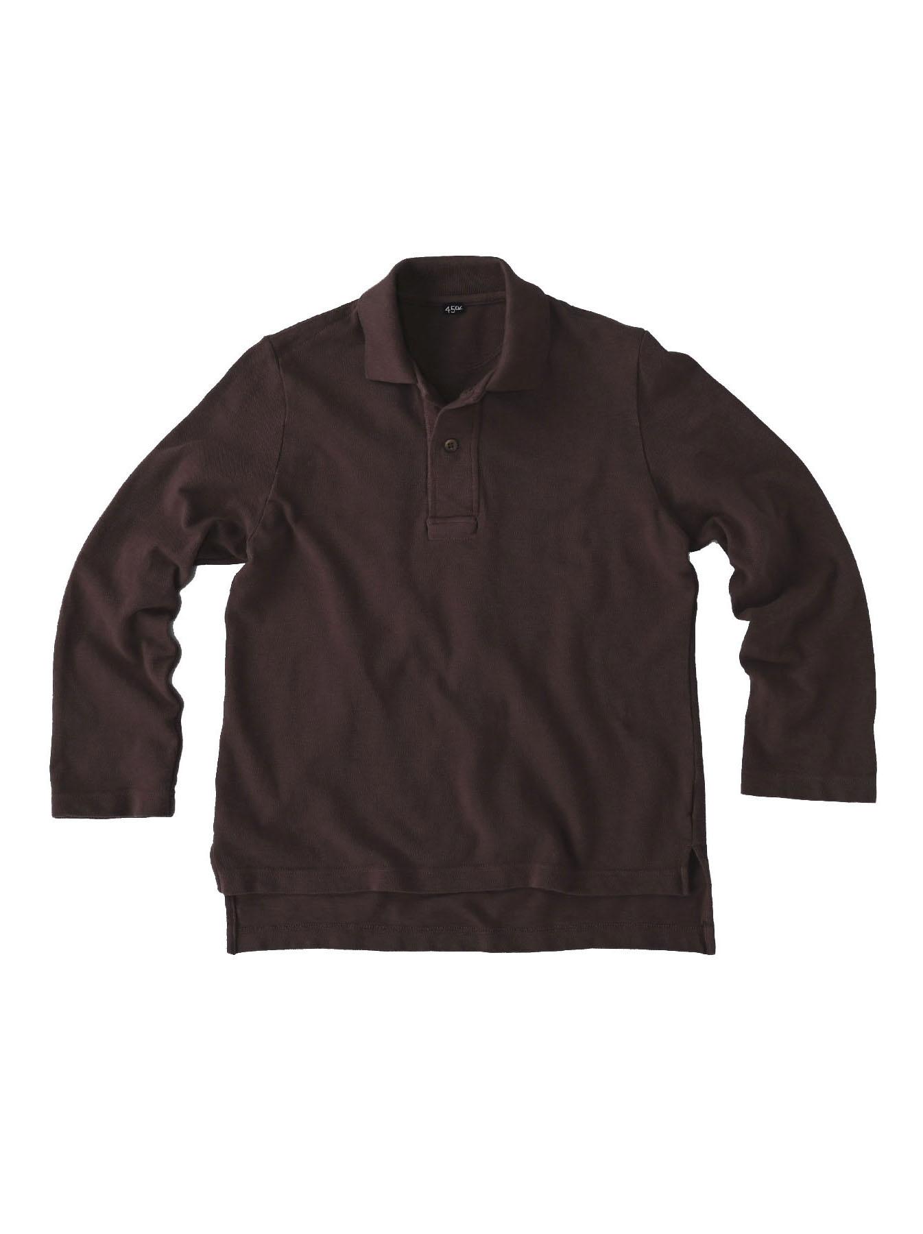 Kanoko Shiokaze Long-sleeved Square Polo Shirt (0521)-7