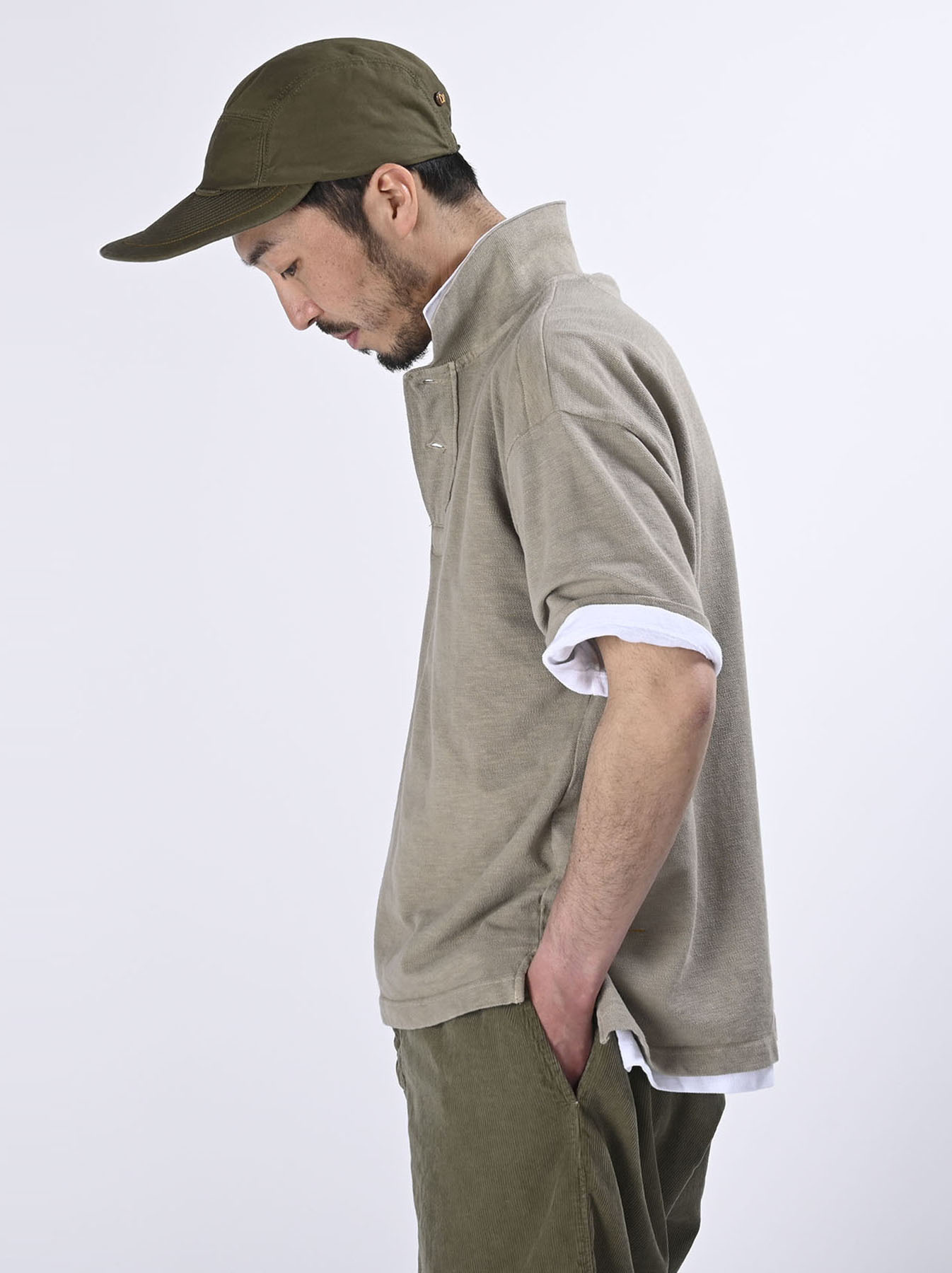 Kanoko Ocean Shiokaze Short-sleeved Polo Shirt (0521)-6
