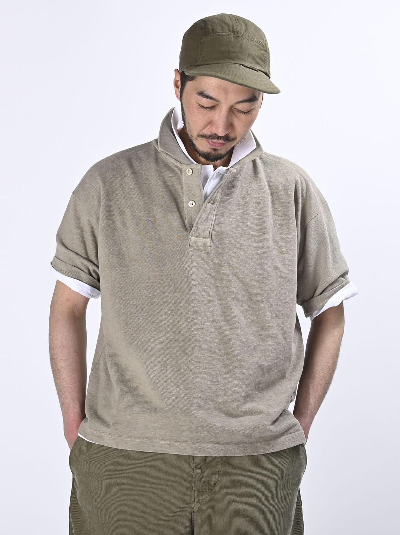 Kanoko Ocean Shiokaze Short-sleeved Polo Shirt (0521)-7