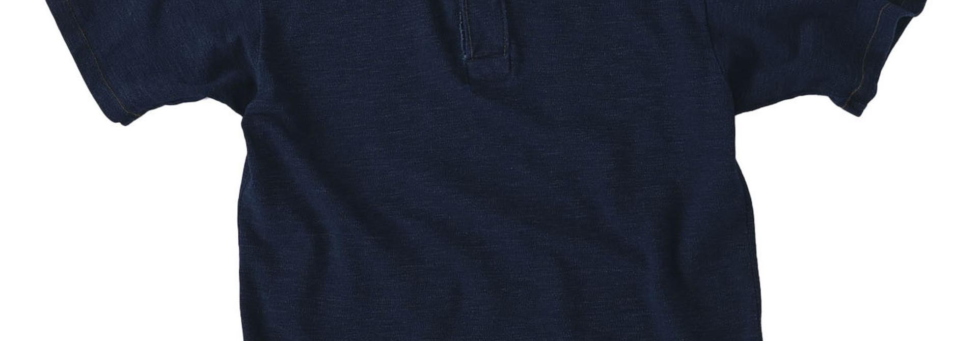Indigo Kanoko Ocean Shiokaze Short-sleeved Polo Shirt (0521)