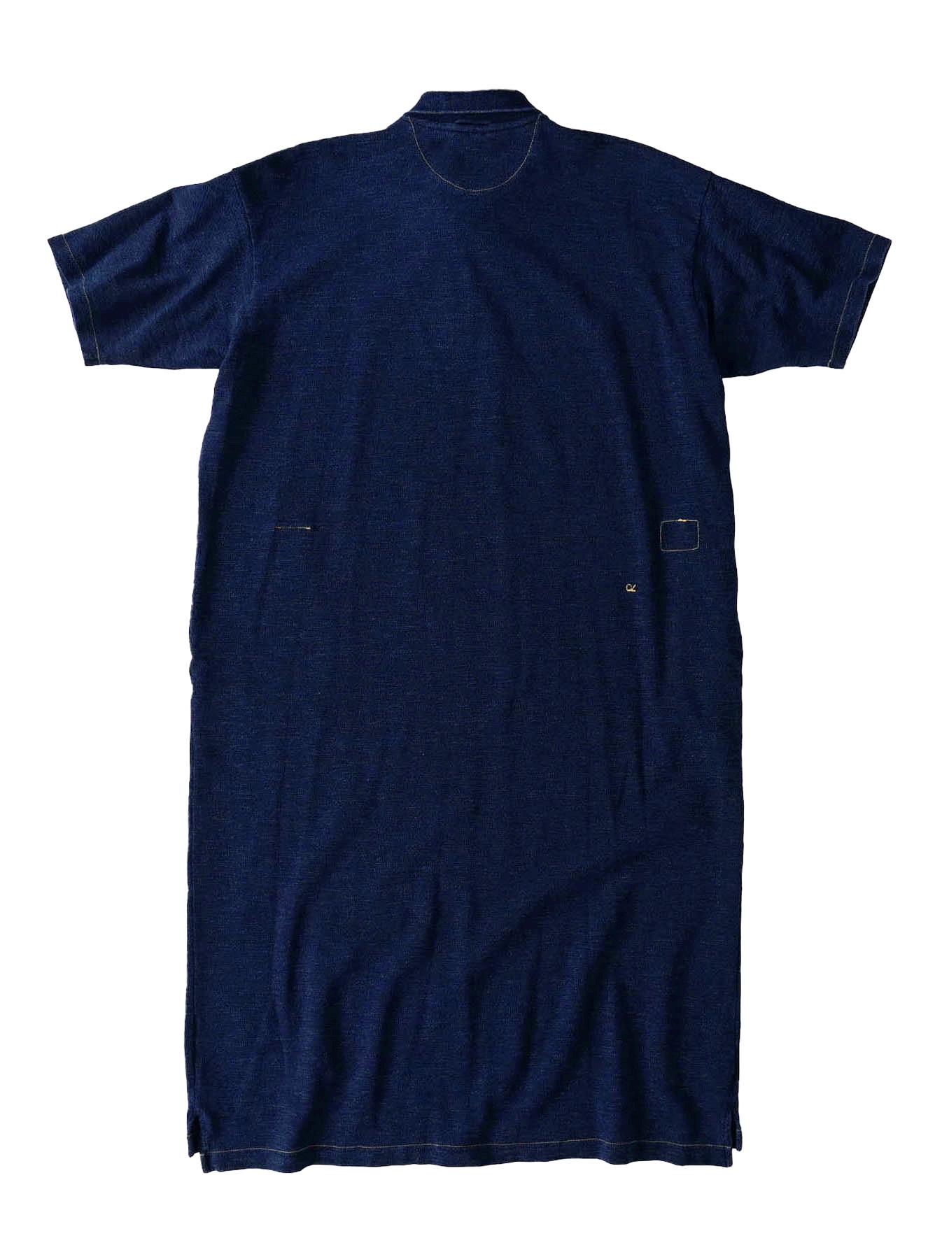 Indigo Kanoko Ocean Shiokaze Short-sleeved Polo Dress (0521)-5