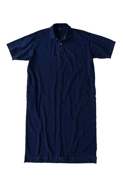 Indigo Kanoko Ocean Shiokaze Short-sleeved Polo Dress (0521)