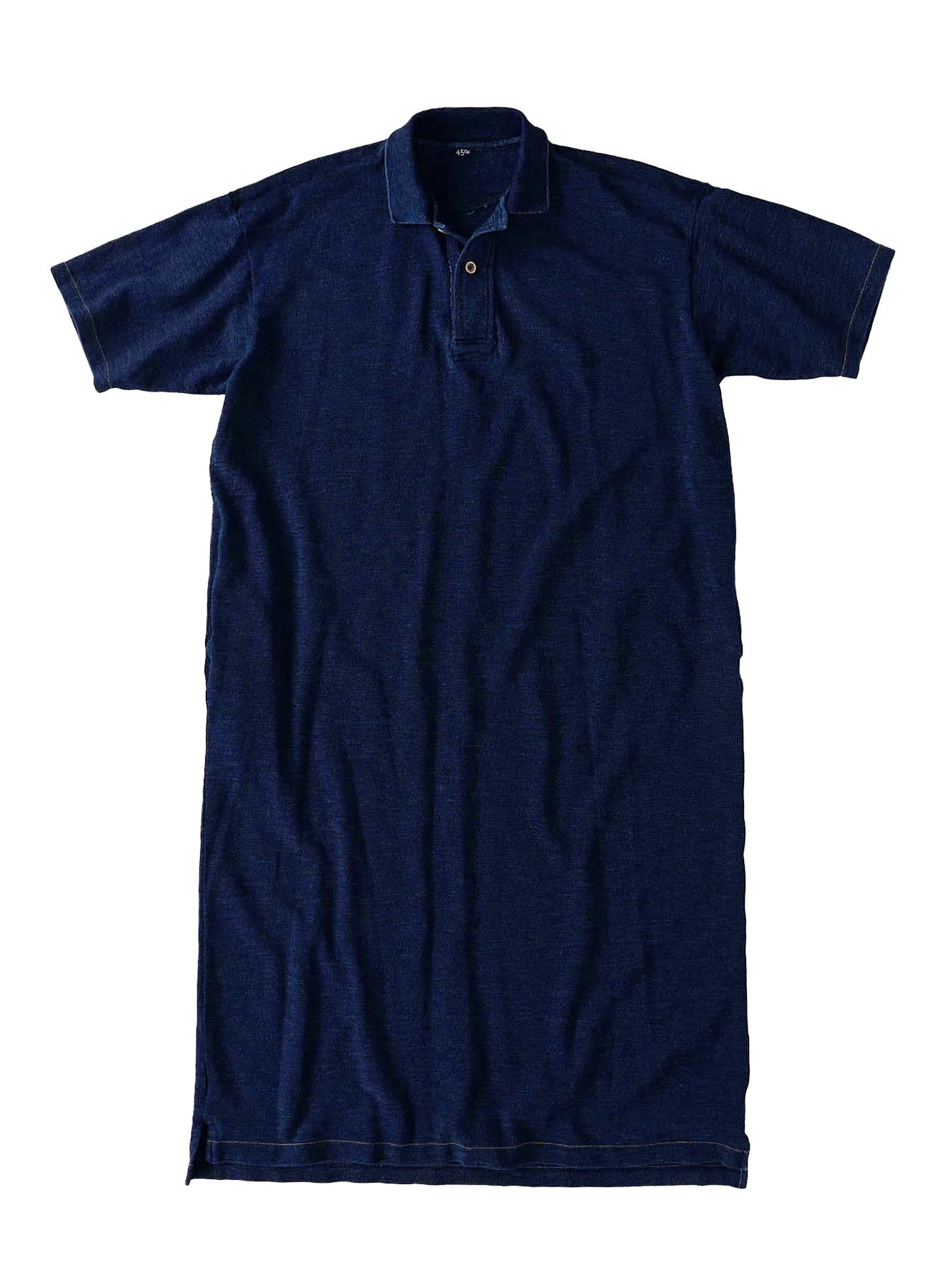 Indigo Kanoko Ocean Shiokaze Short-sleeved Polo Dress (0521)-1