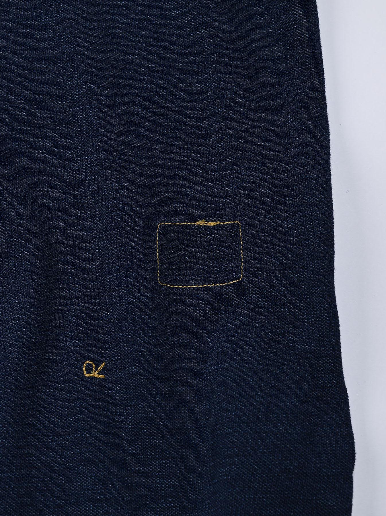 Indigo Kanoko Ocean Shiokaze Short-sleeved Polo Dress (0521)-12