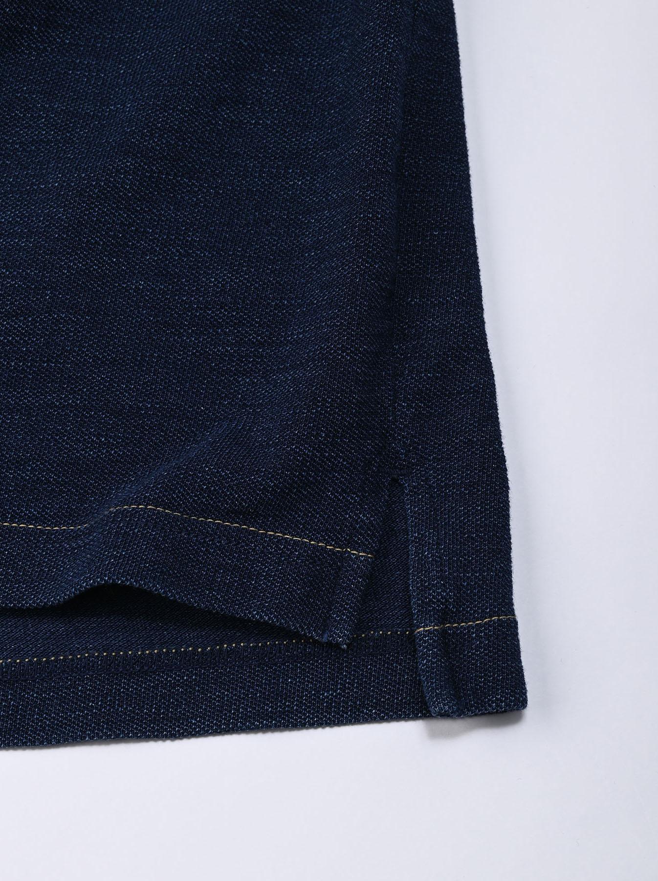 Indigo Kanoko Ocean Shiokaze Short-sleeved Polo Dress (0521)-9