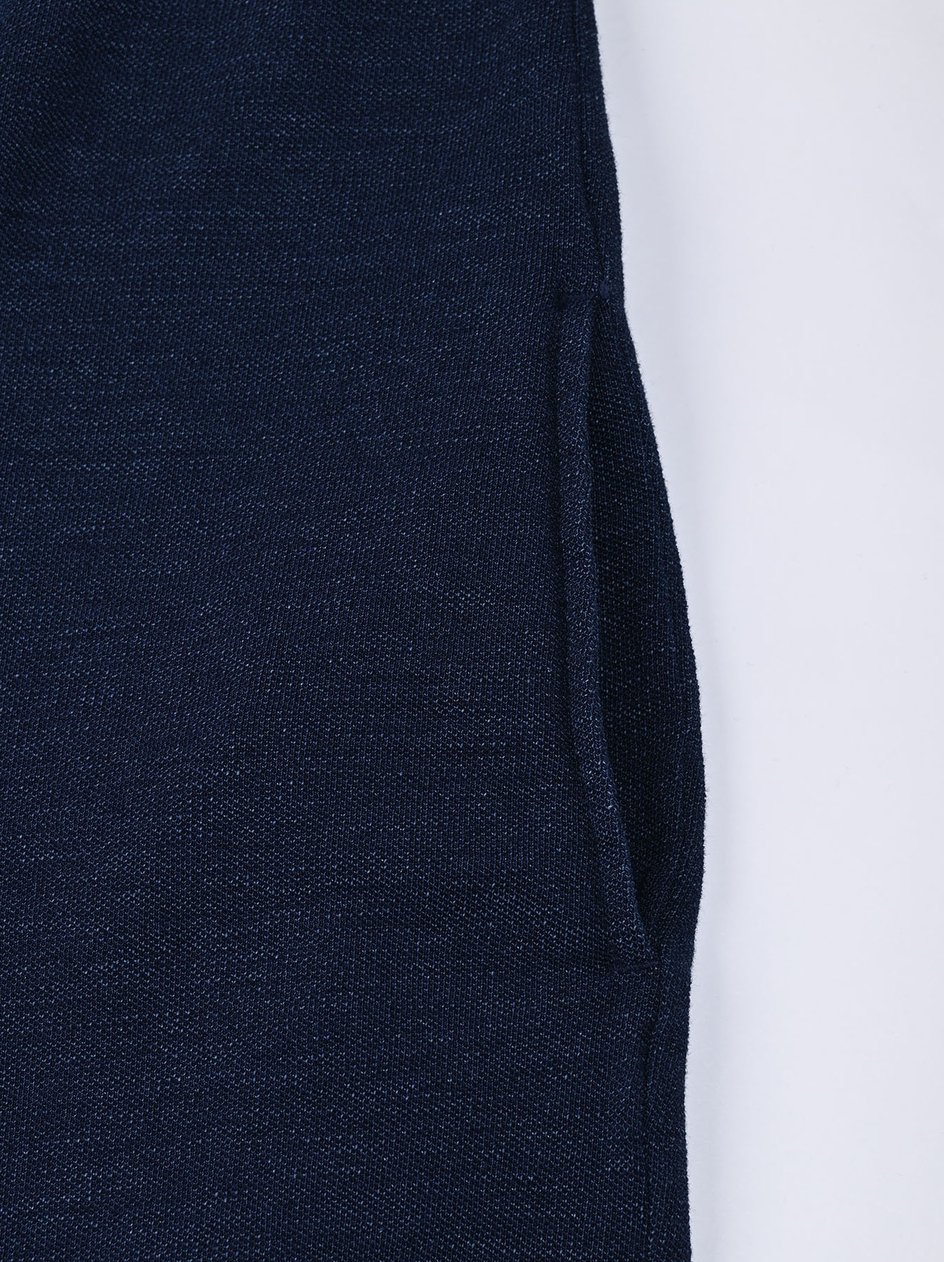 Indigo Kanoko Ocean Shiokaze Short-sleeved Polo Dress (0521)-10