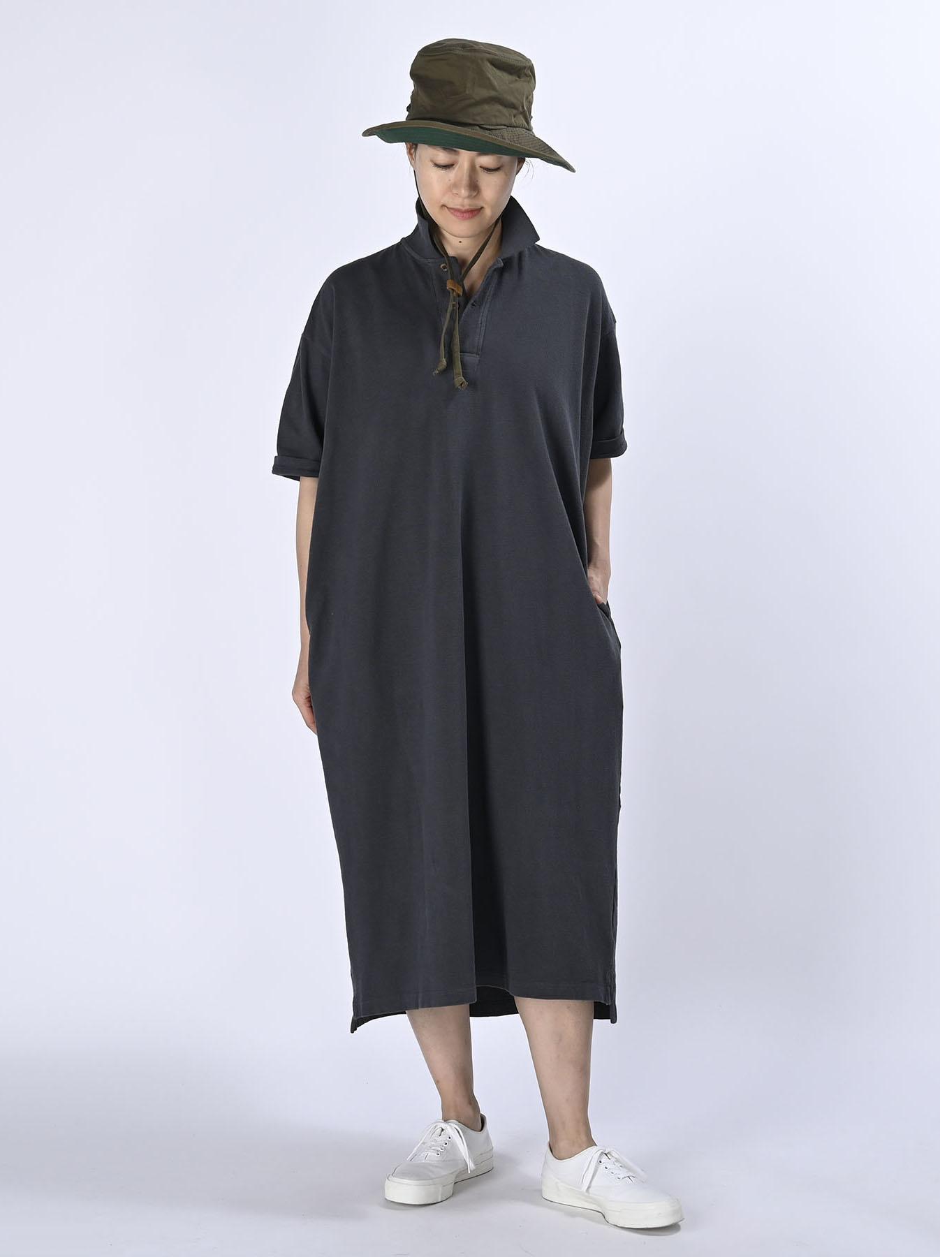 Kanoko Ocean Shiokaze Short-sleeved Polo Dress (0521)-2