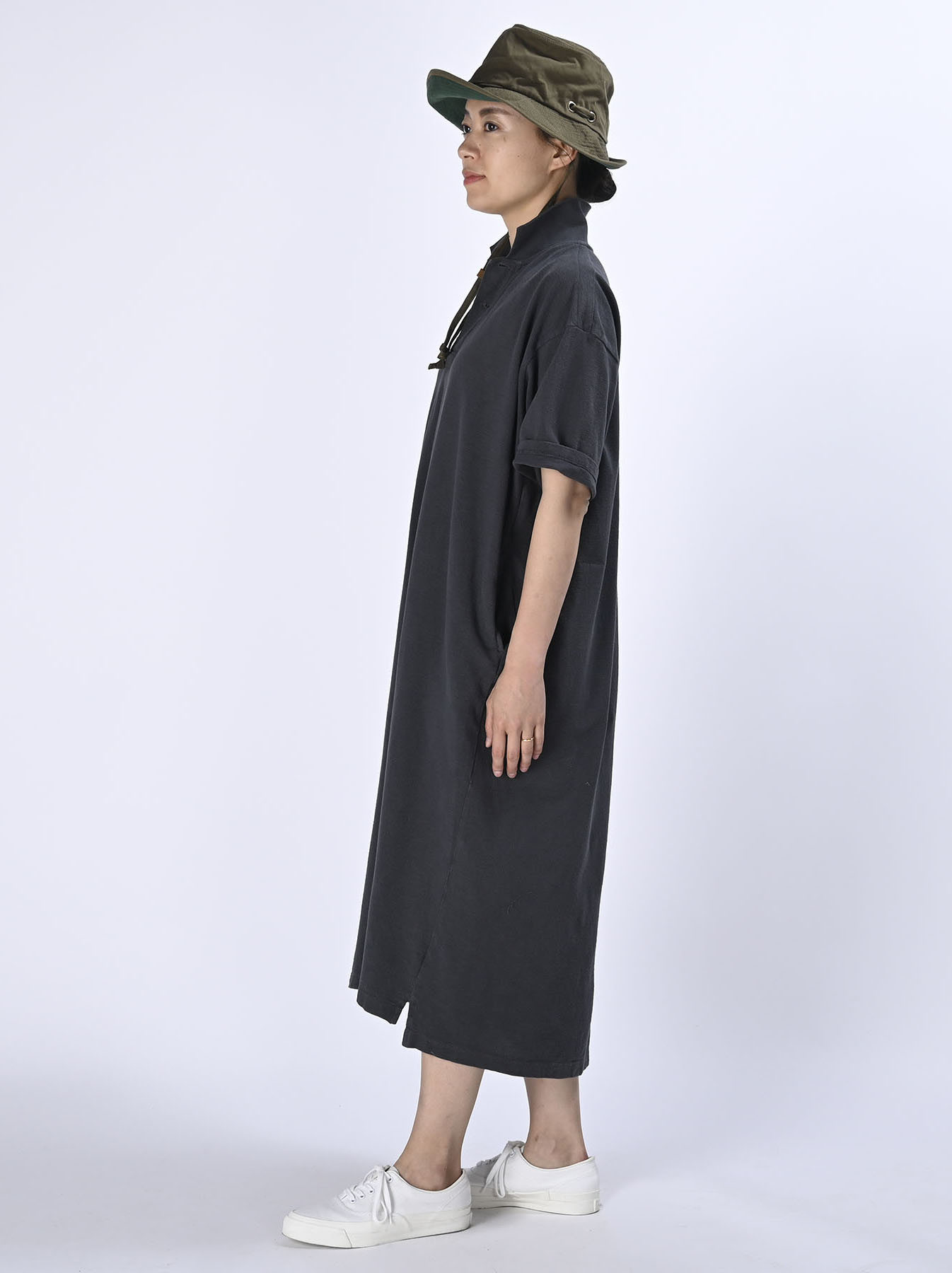 Kanoko Ocean Shiokaze Short-sleeved Polo Dress (0521)-3