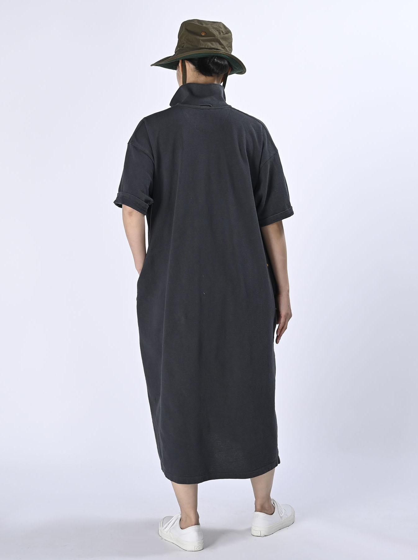 Kanoko Ocean Shiokaze Short-sleeved Polo Dress (0521)-4