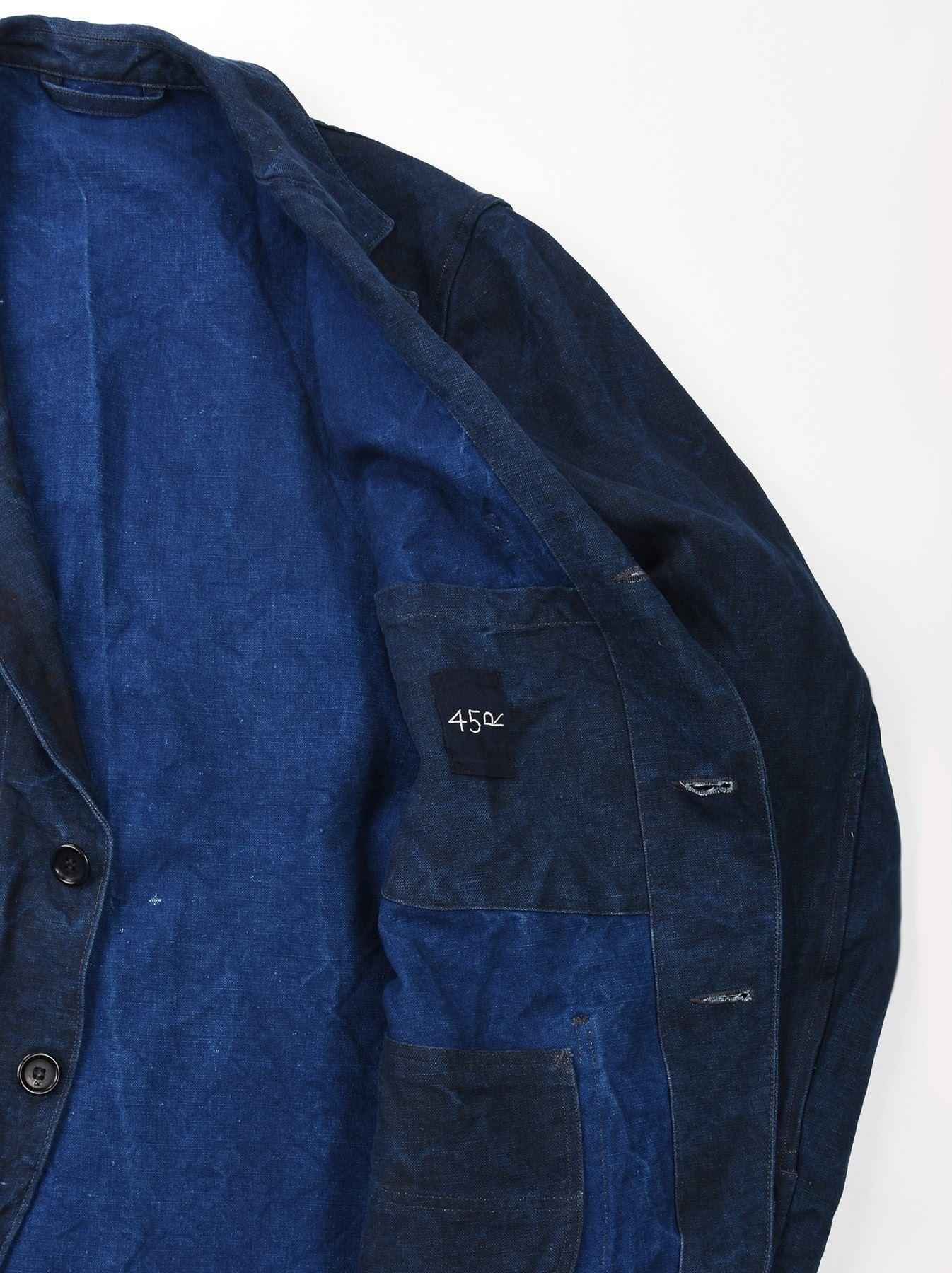 Indigo Linen Duck Asama Jacket-11