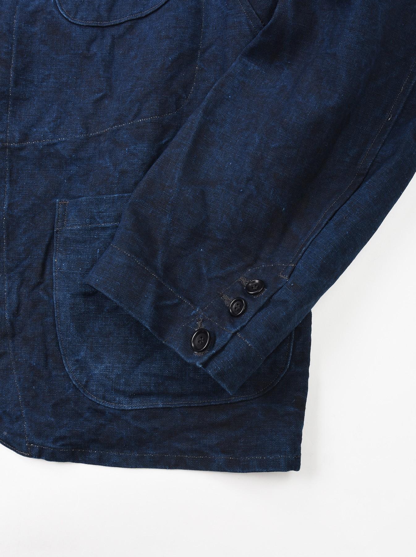 Indigo Linen Duck Asama Jacket-9