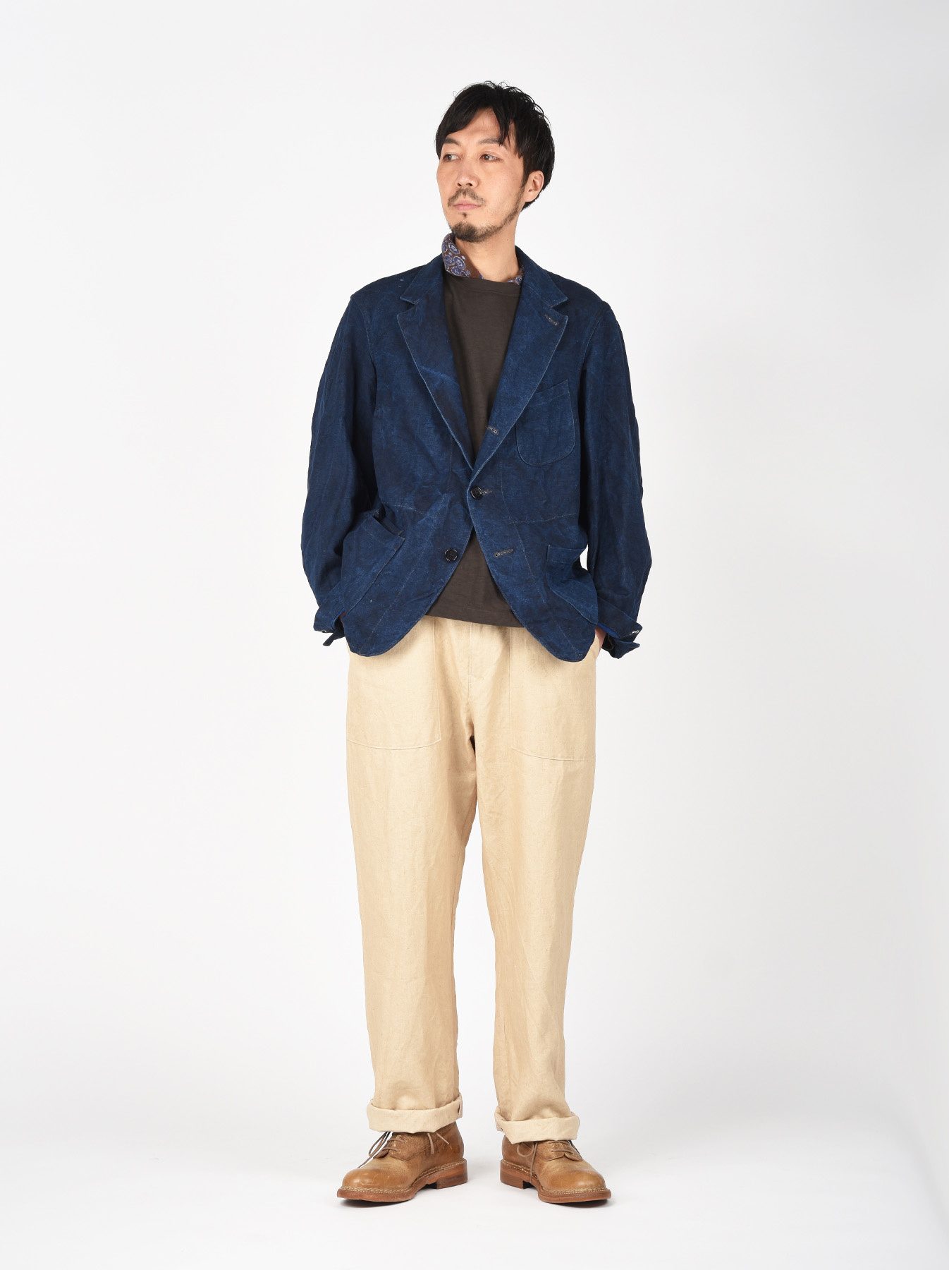 Indigo Linen Duck Asama Jacket-2