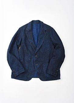 Indigo Linen Duck Asama Jacket-1